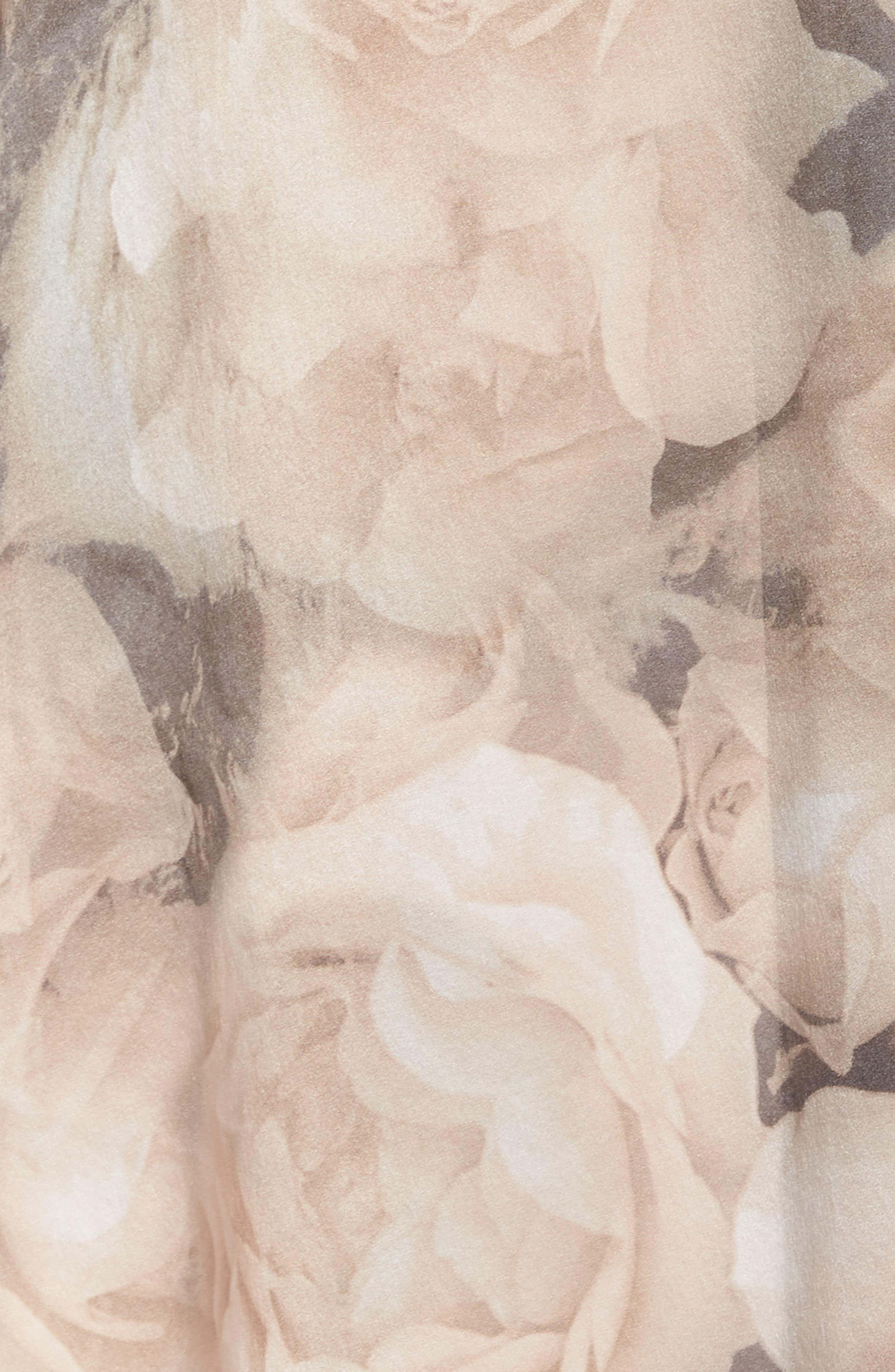 SAMANTHA CHANG,                             Silk Kimono,                             Alternate thumbnail 5, color,                             TENDER ROSE PRINT