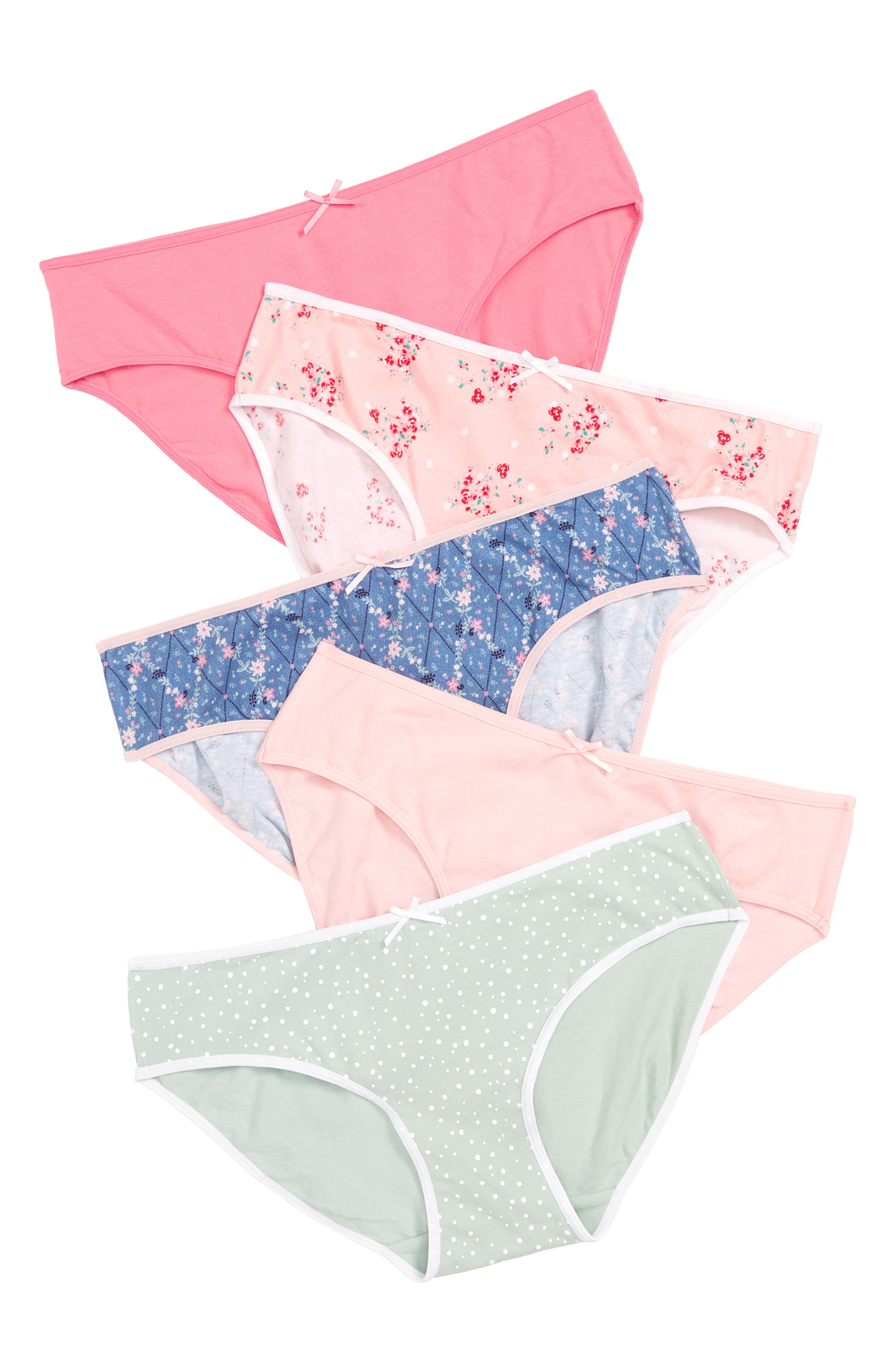 5-Pack Hipster Briefs,                         Main,                         color, DELICATE FLORAL PACK