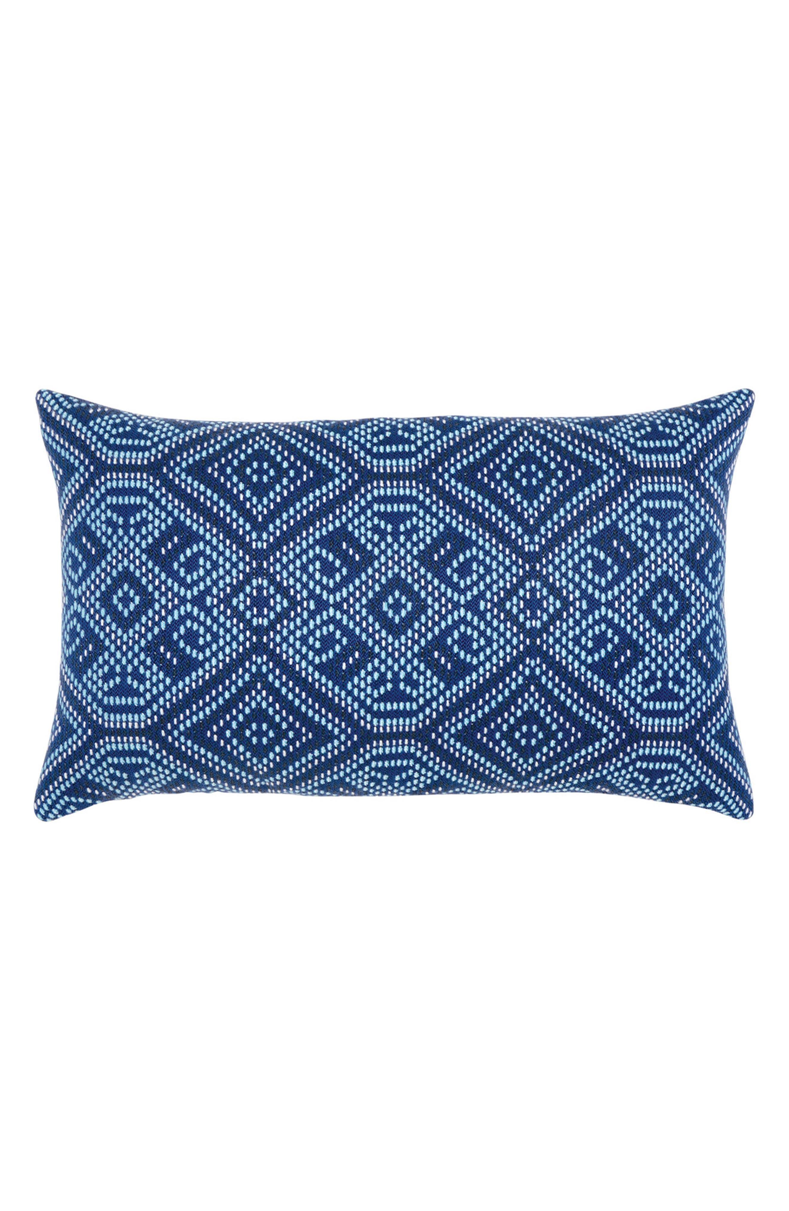 Midnight Tile Lumbar Pillow,                         Main,                         color, BLUE