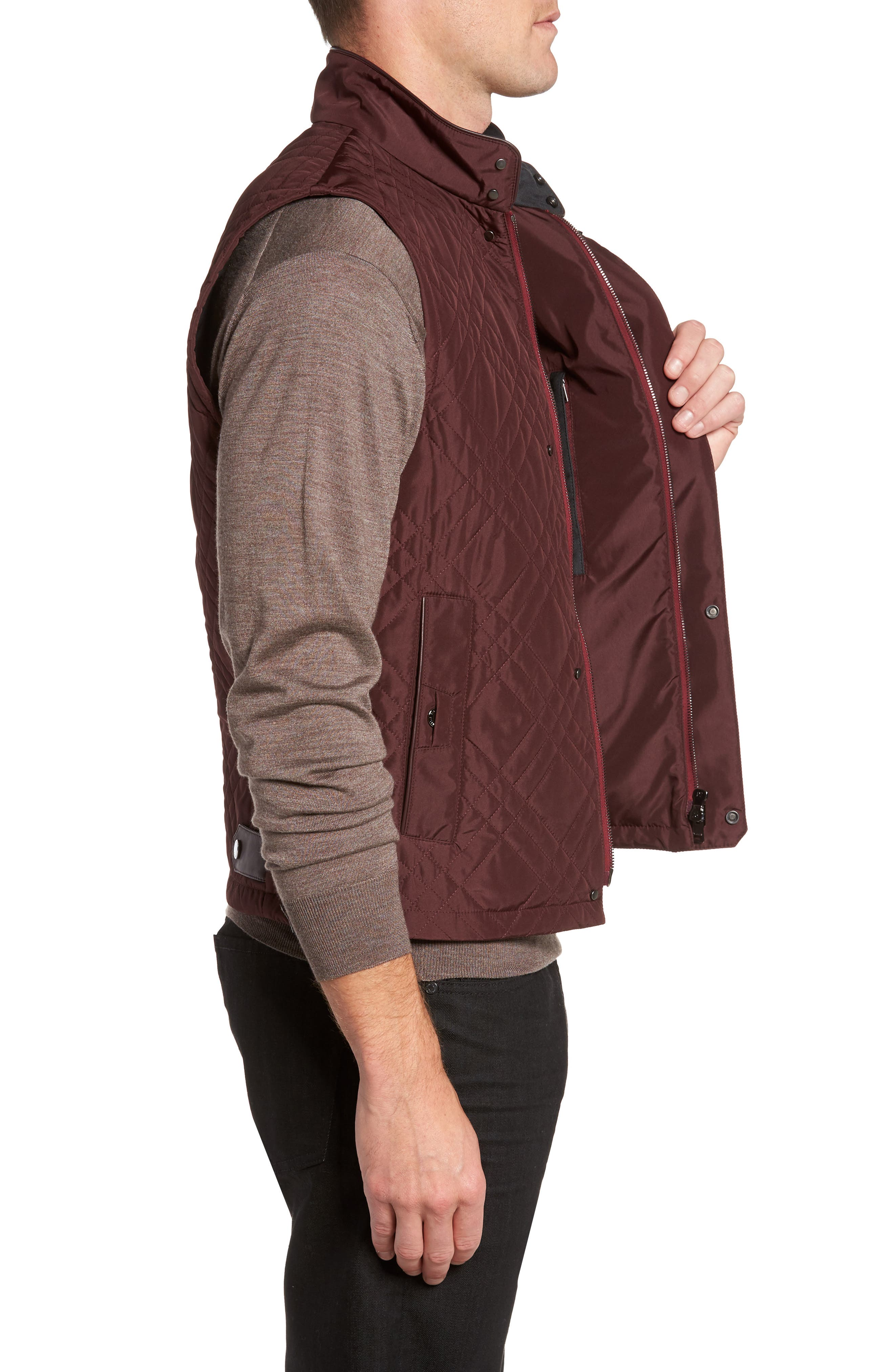 Quilted Field Vest,                             Alternate thumbnail 3, color,                             930
