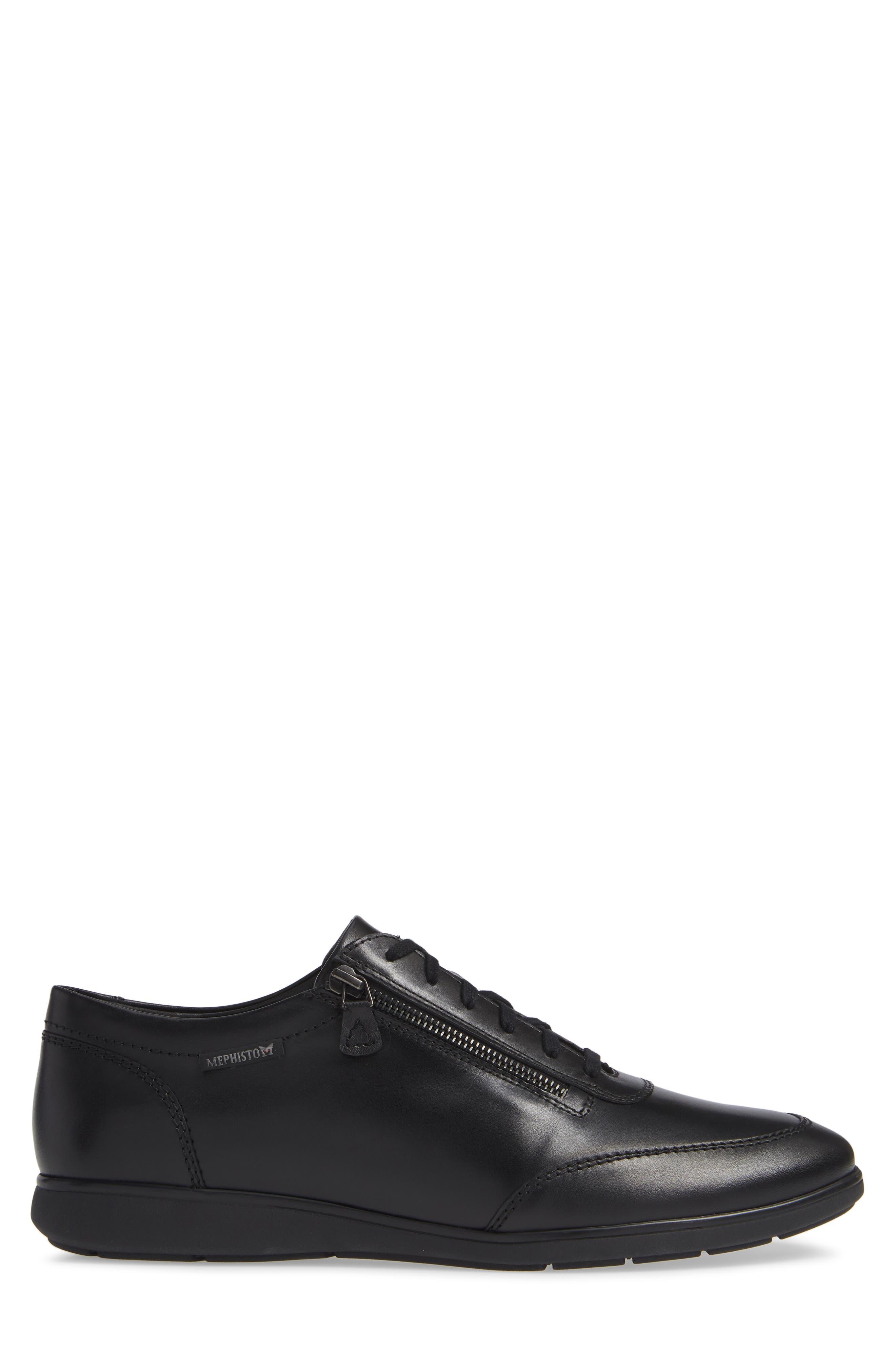Laurent Zippered Low Top Sneaker,                             Alternate thumbnail 3, color,                             001