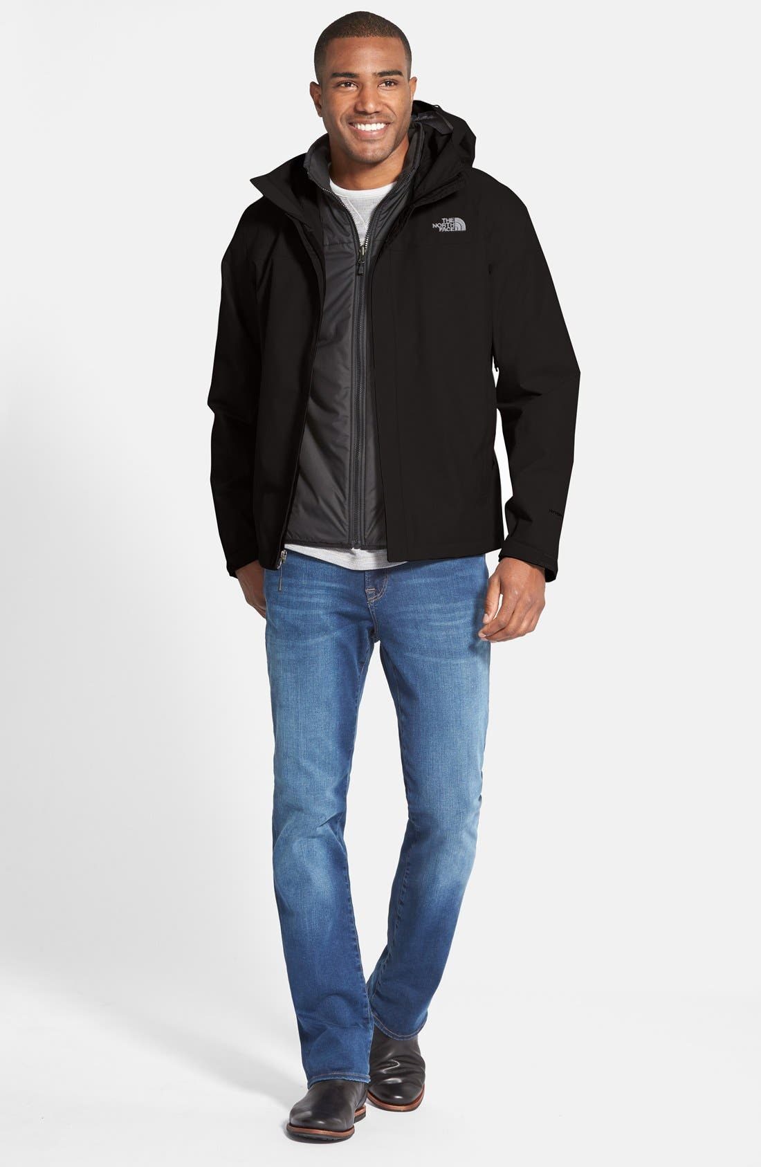 THE NORTH FACE,                             Venture Waterproof Jacket,                             Alternate thumbnail 5, color,                             001