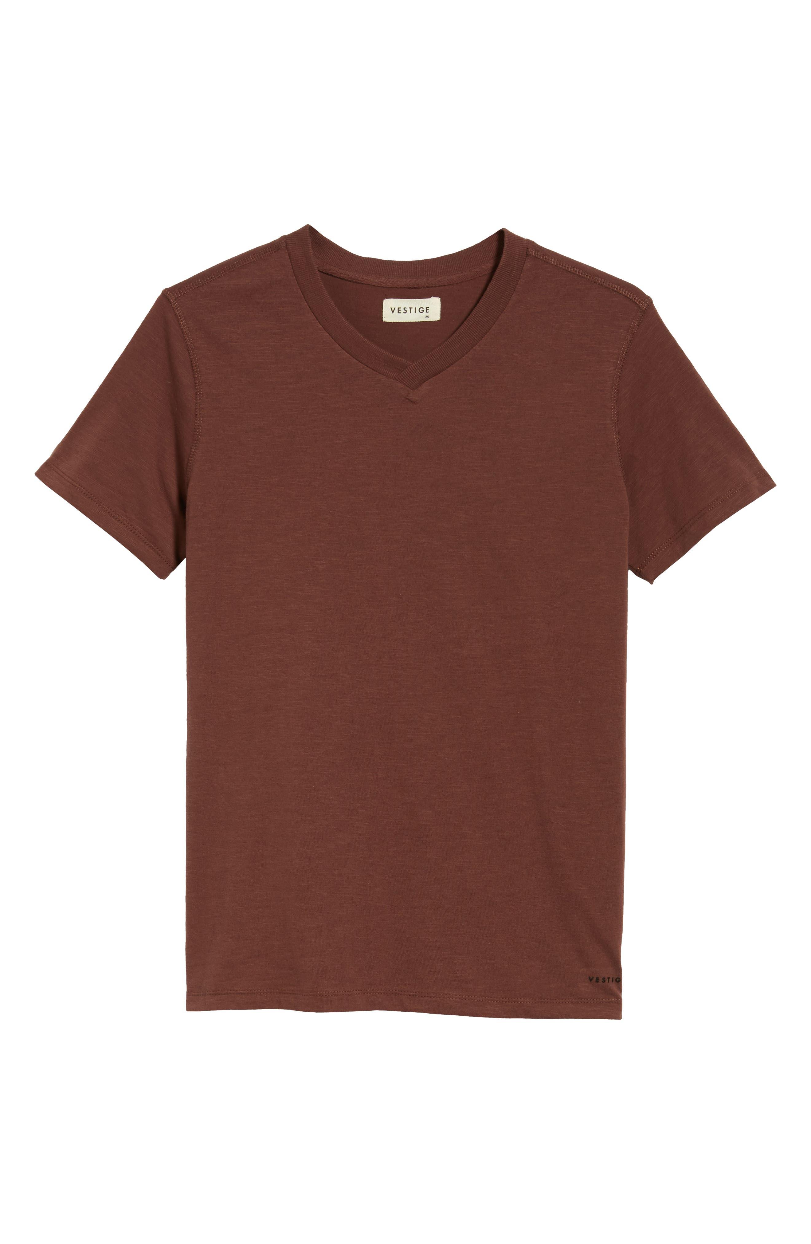 Soccer V-Neck T-Shirt,                             Alternate thumbnail 6, color,                             BURGUNDY