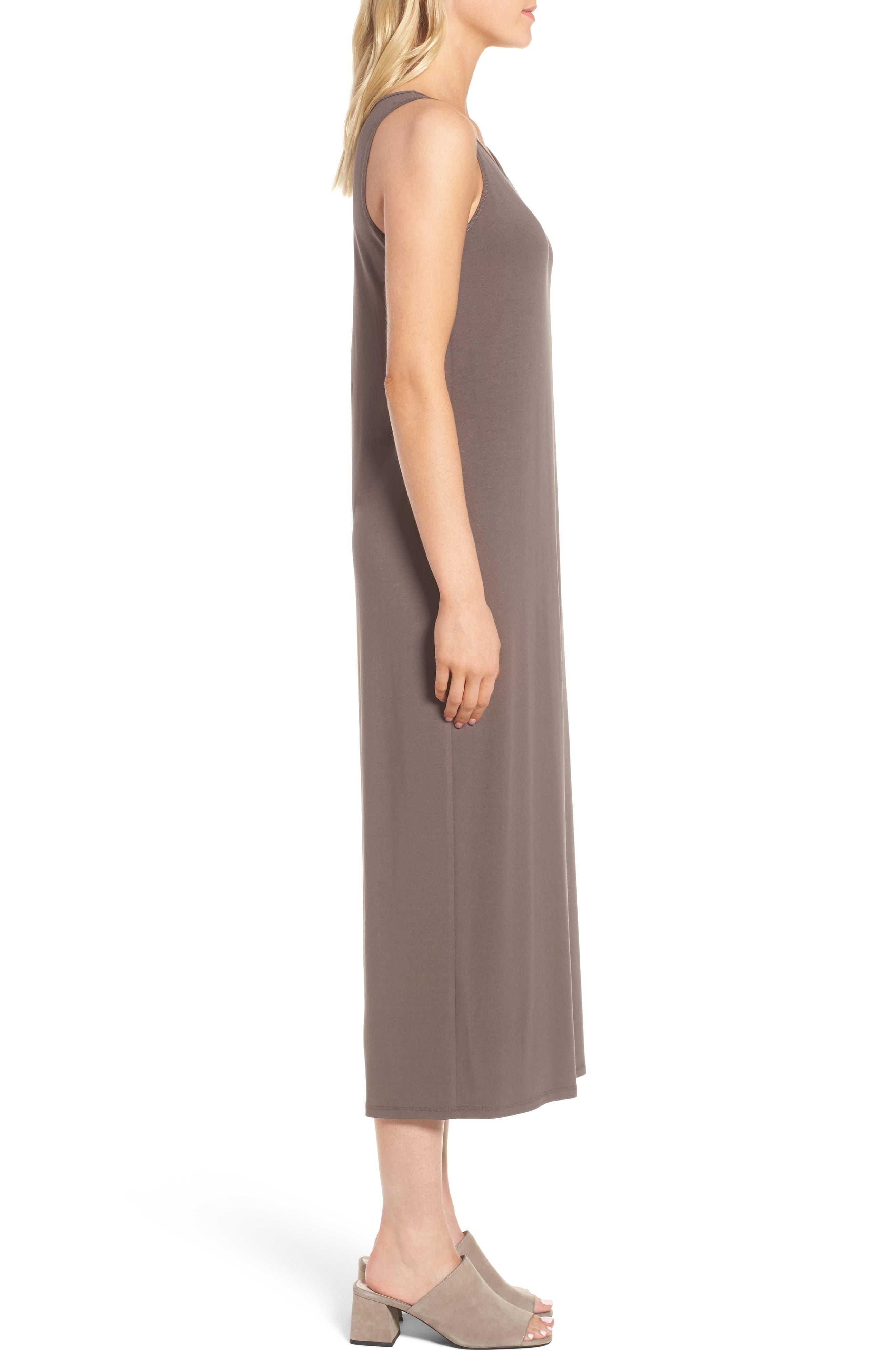 Scoop Neck Jersey Midi Dress,                             Alternate thumbnail 3, color,                             024