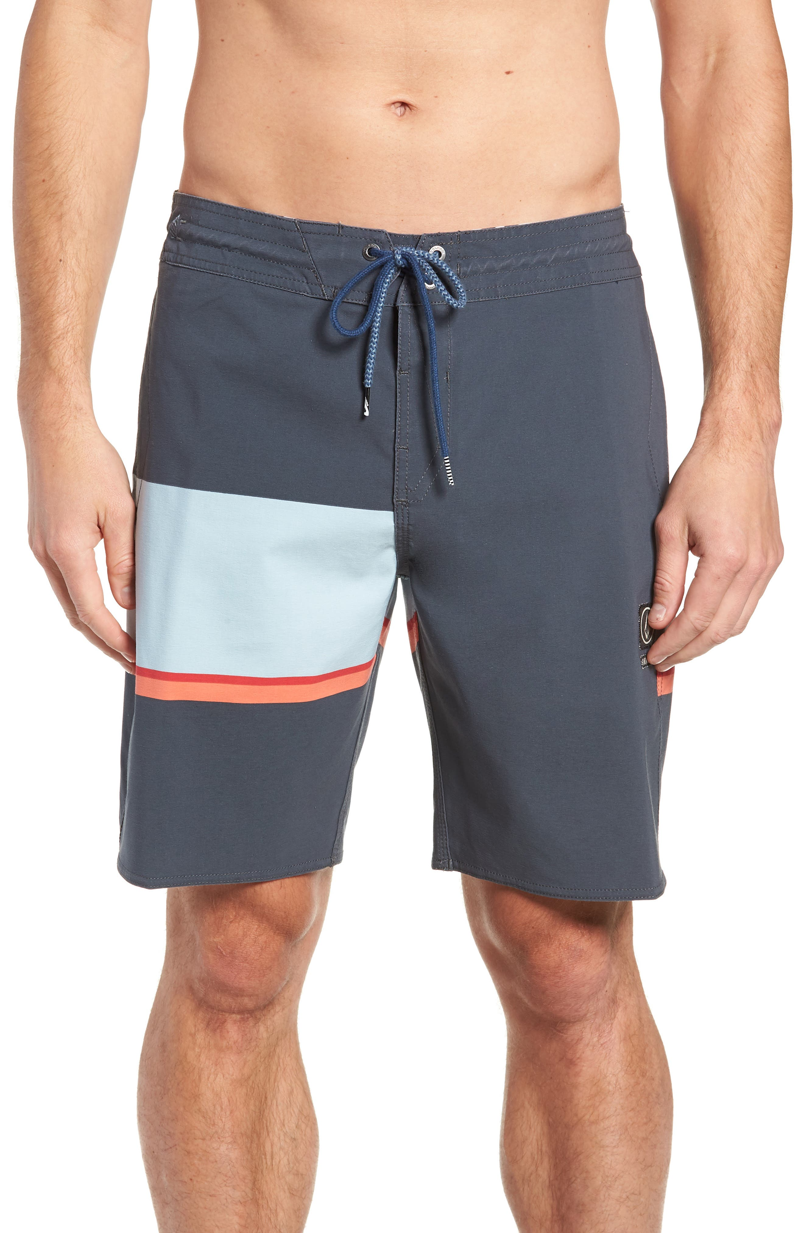 3 Quarta Stoney Board Shorts,                             Main thumbnail 1, color,                             MEDIUM BLUE