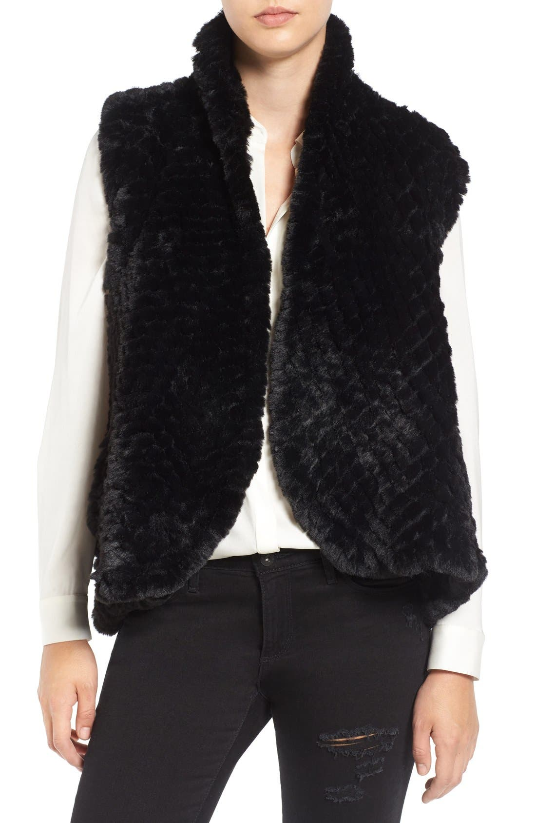 Faux Fur Vest,                             Main thumbnail 2, color,