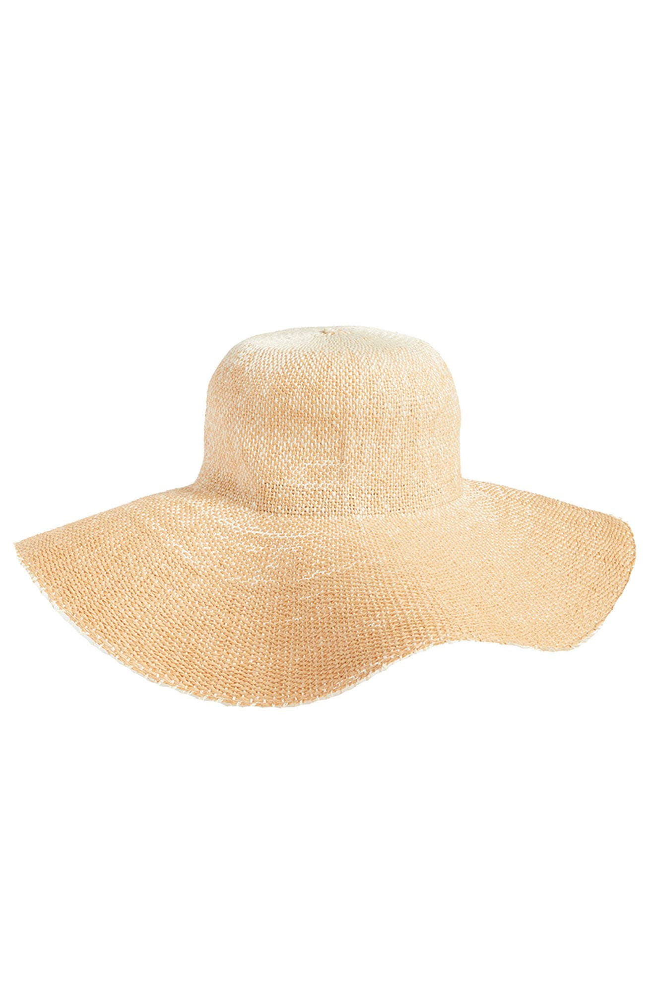 Fringe Ombré Floppy Straw Hat,                             Alternate thumbnail 3, color,