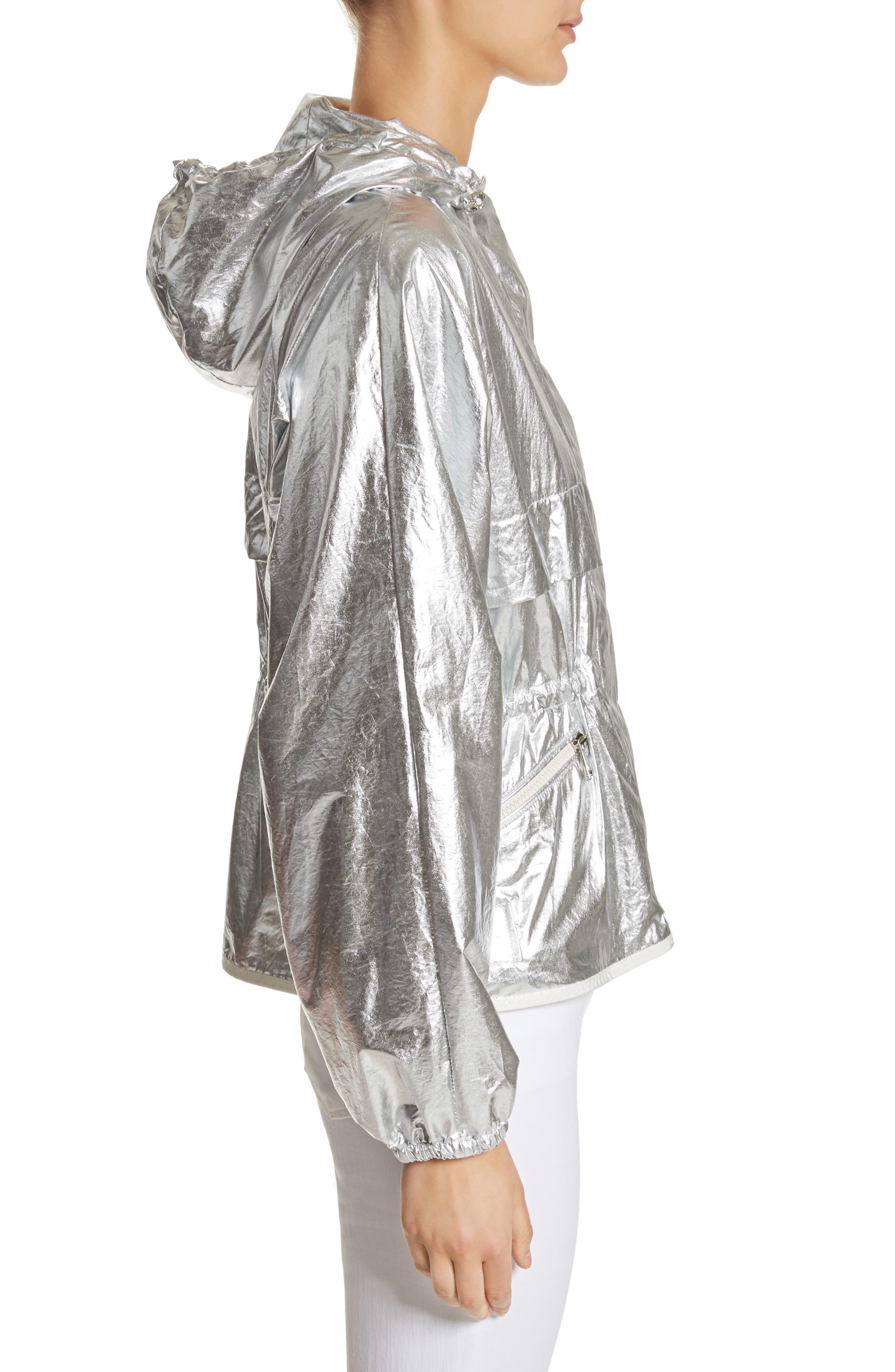 Jais Metallic Hooded Raincoat,                             Alternate thumbnail 3, color,                             045