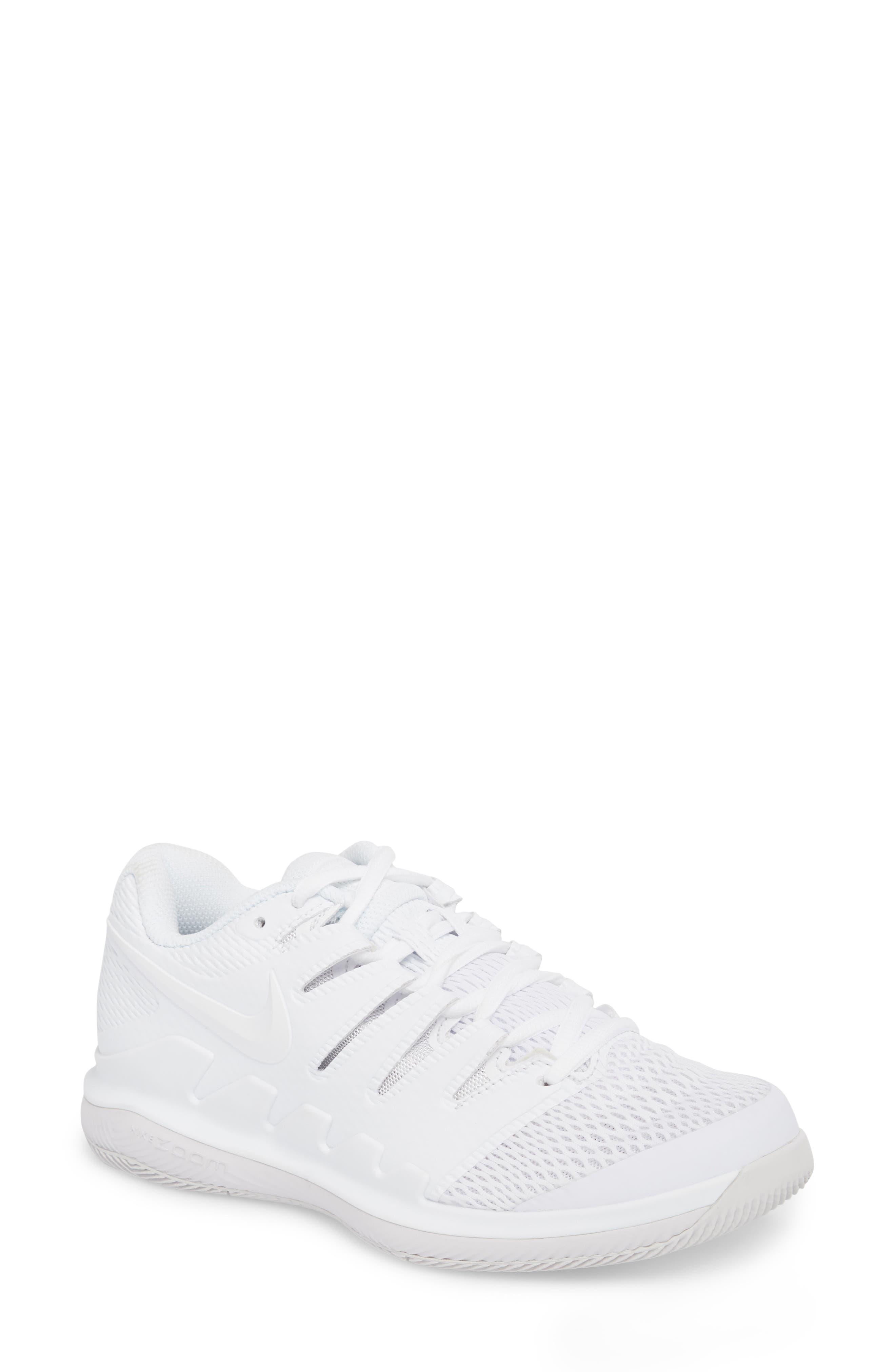 Air Zoom Vapor X Tennis Shoe,                             Main thumbnail 1, color,                             WHITE/ WHITE/ VAST GREY