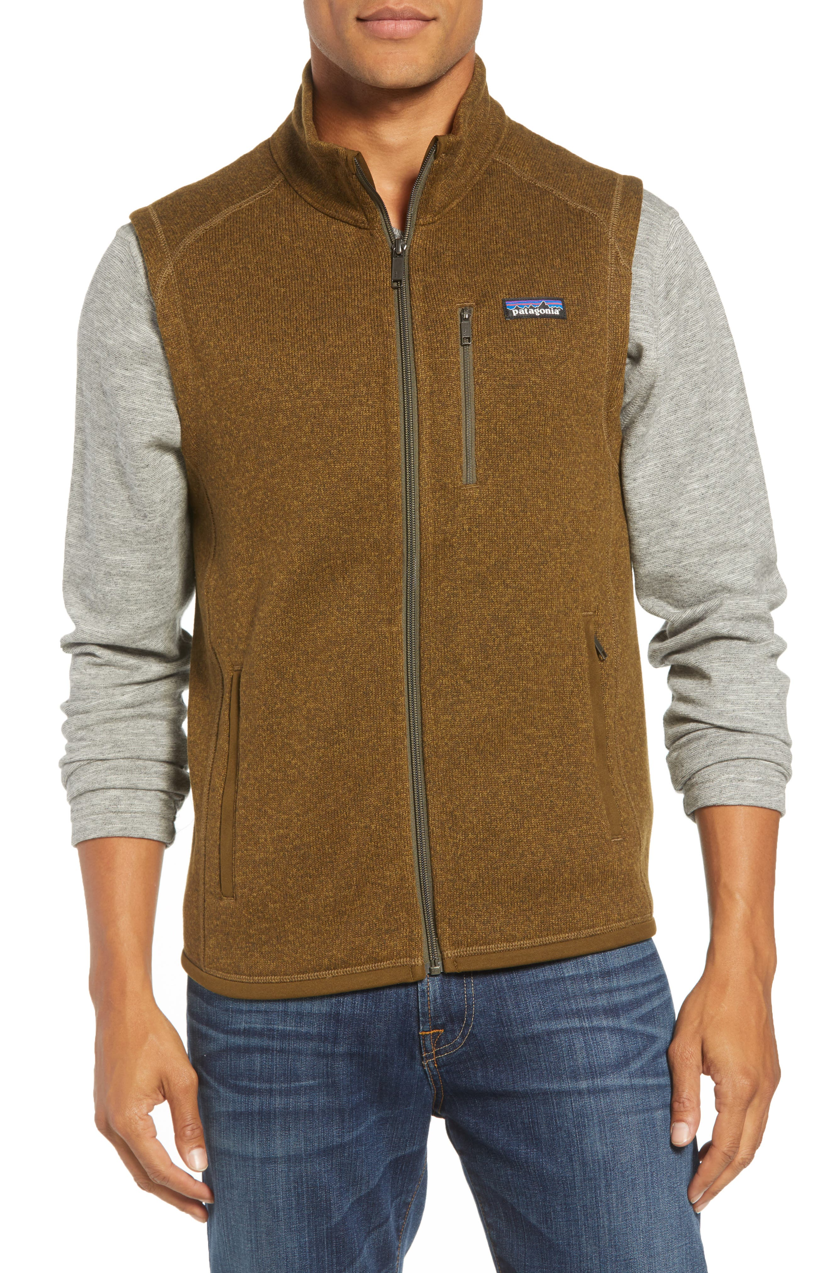 'Better Sweater' Zip Front Vest,                             Alternate thumbnail 4, color,                             SEDIMENT