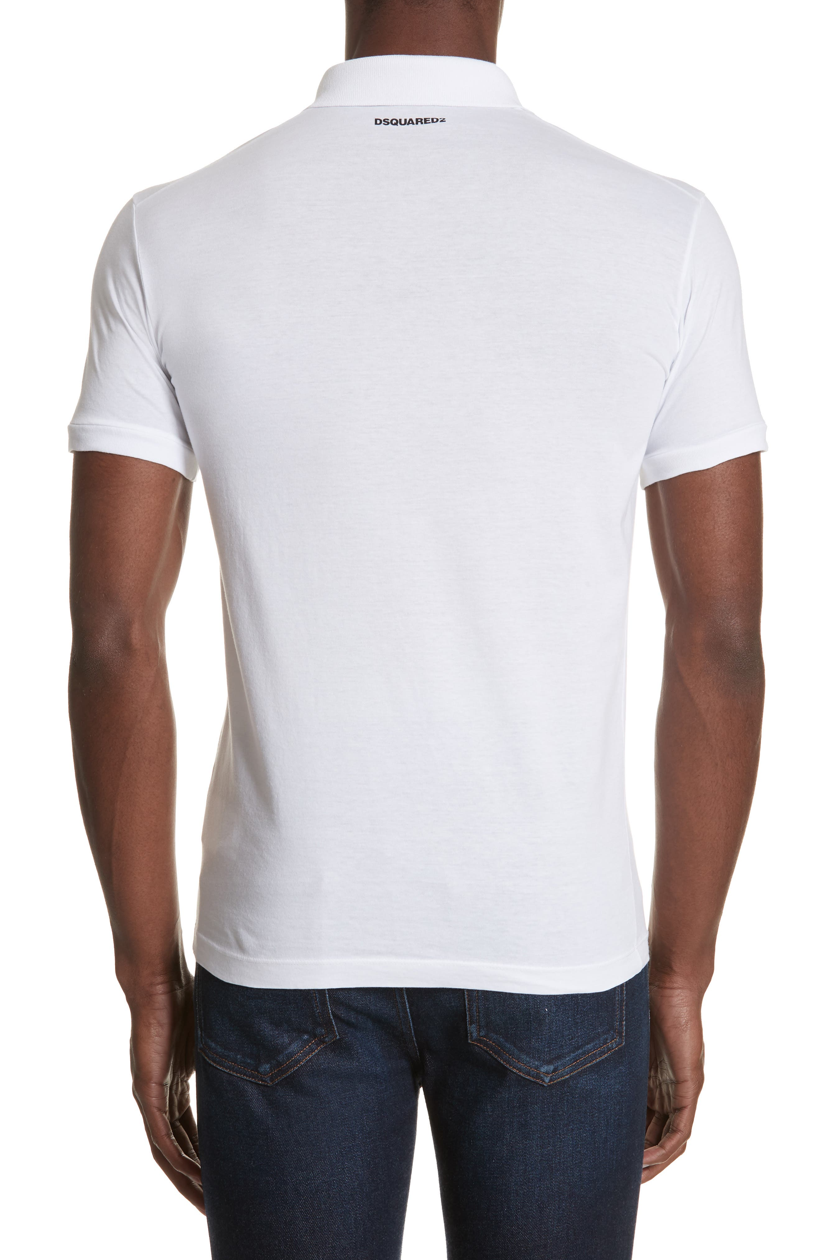 Solid Polo,                             Alternate thumbnail 2, color,                             WHITE