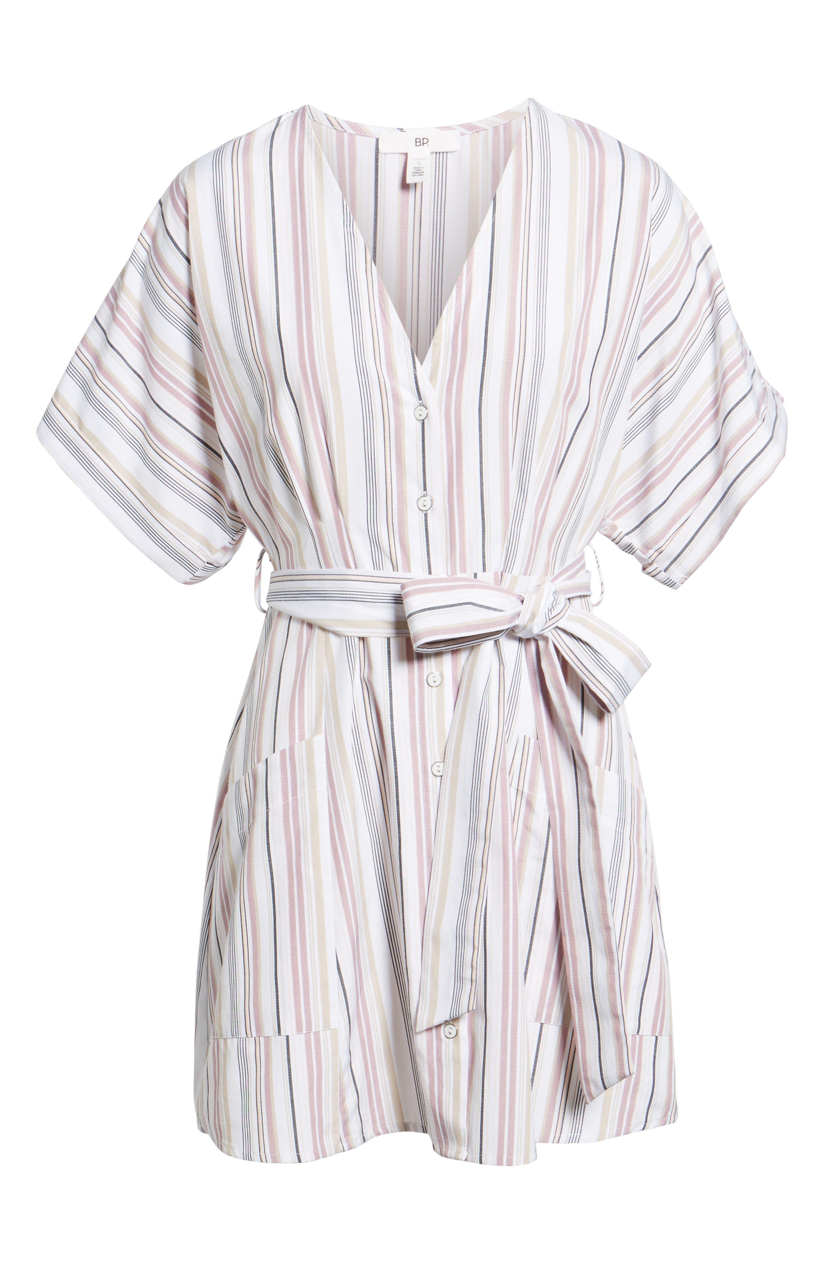 Button Front Dress,                             Alternate thumbnail 18, color,