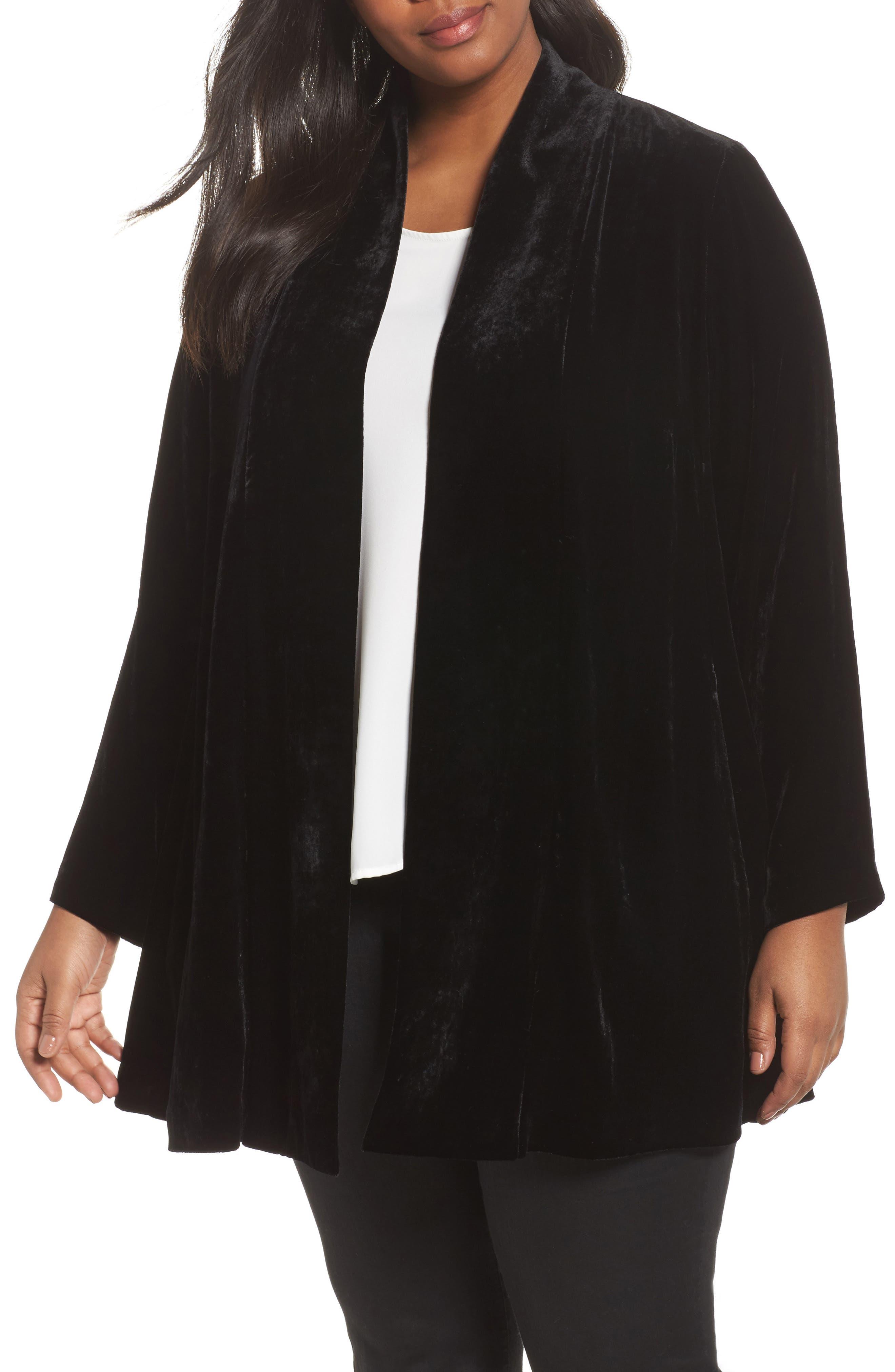 Shawl Collar Velvet Jacket,                         Main,                         color, 001