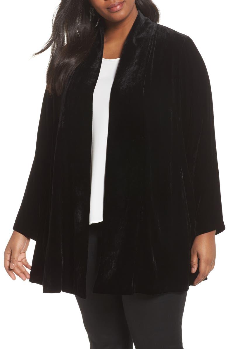 bb6b95e2b65 Eileen Fisher Shawl Collar Velvet Jacket (Plus Size)