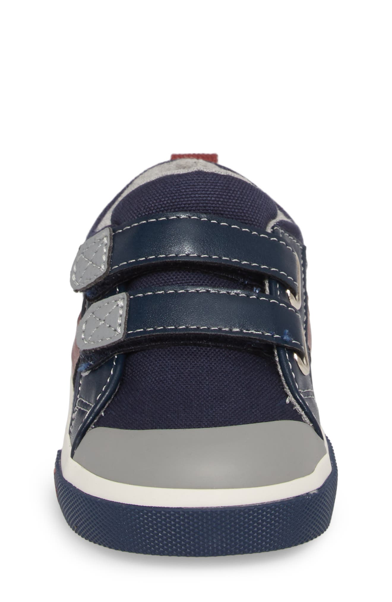 'Russell' Sneaker,                             Alternate thumbnail 4, color,                             NAVY/ RED