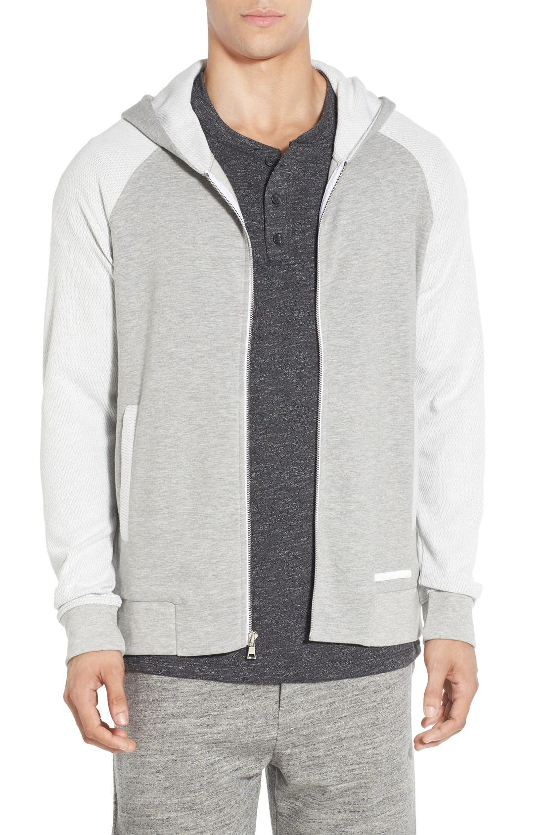 'Baseline' Zip Hoodie,                         Main,                         color, GREY