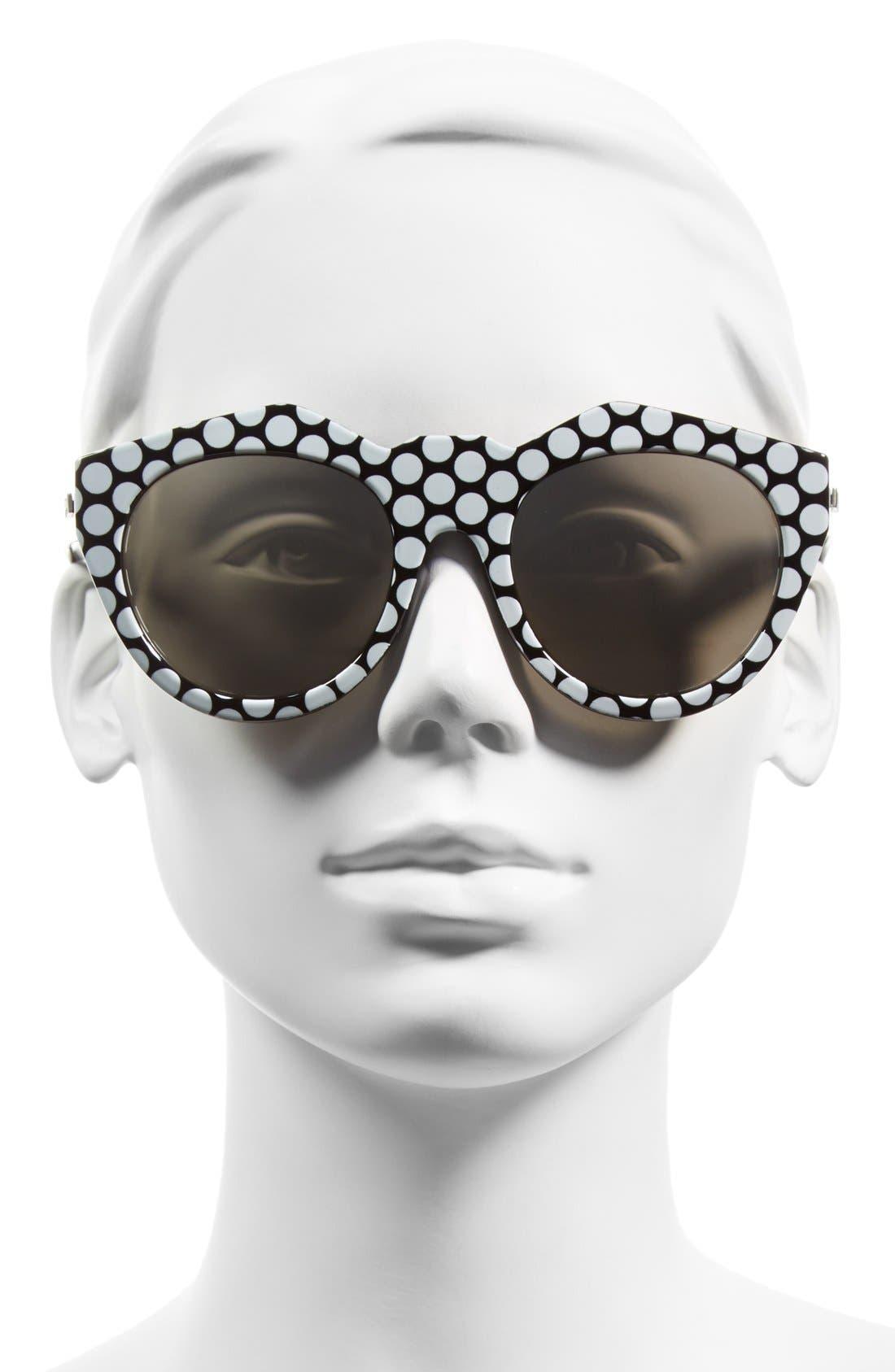 LE SPECS,                             'Neo Noir' 53mm Oversized Sunglasses,                             Alternate thumbnail 2, color,                             001