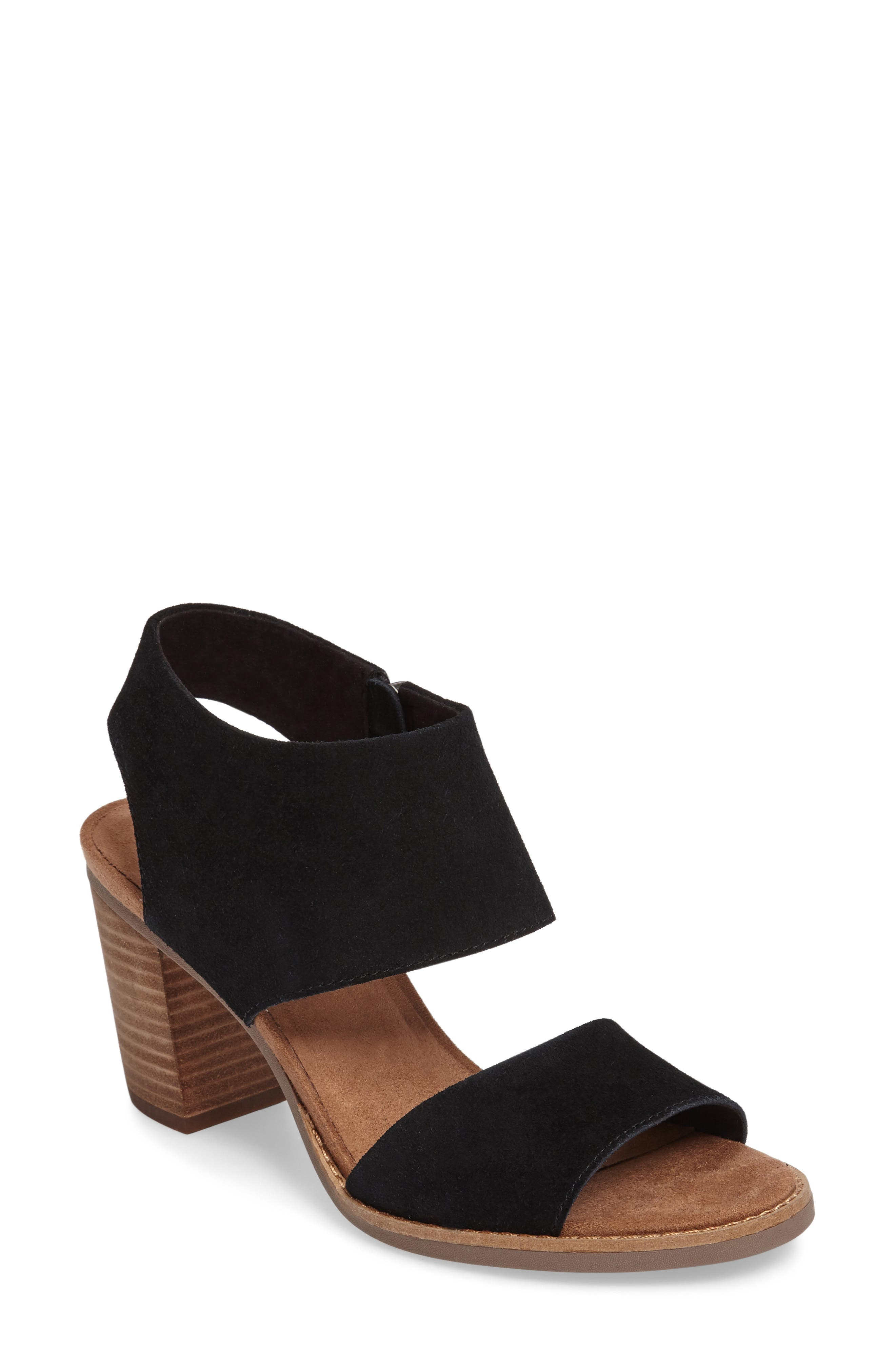 Majorca Sandal,                         Main,                         color, BLACK