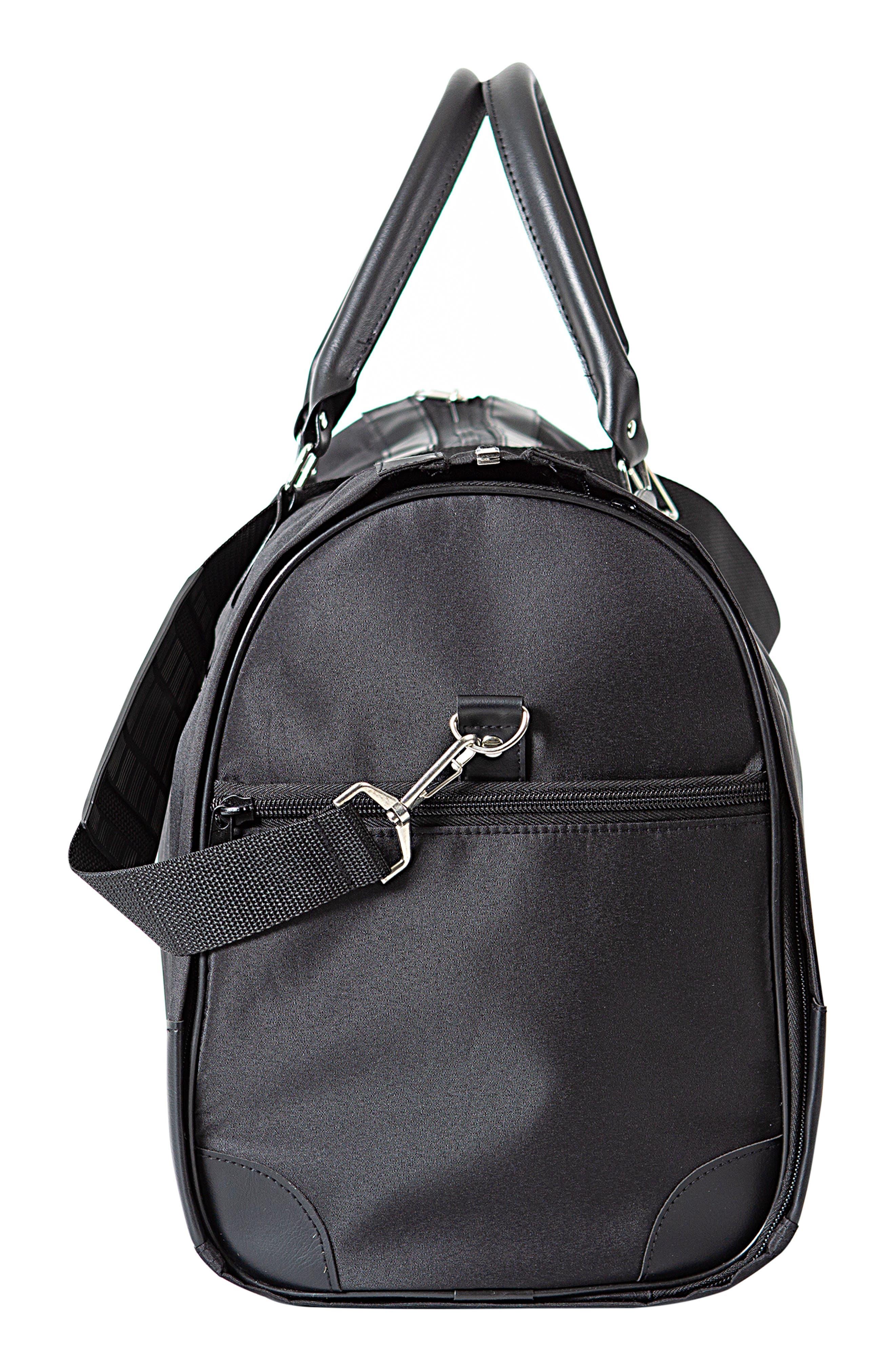Monogram Duffel/Garment Bag,                             Alternate thumbnail 3, color,                             BLACK