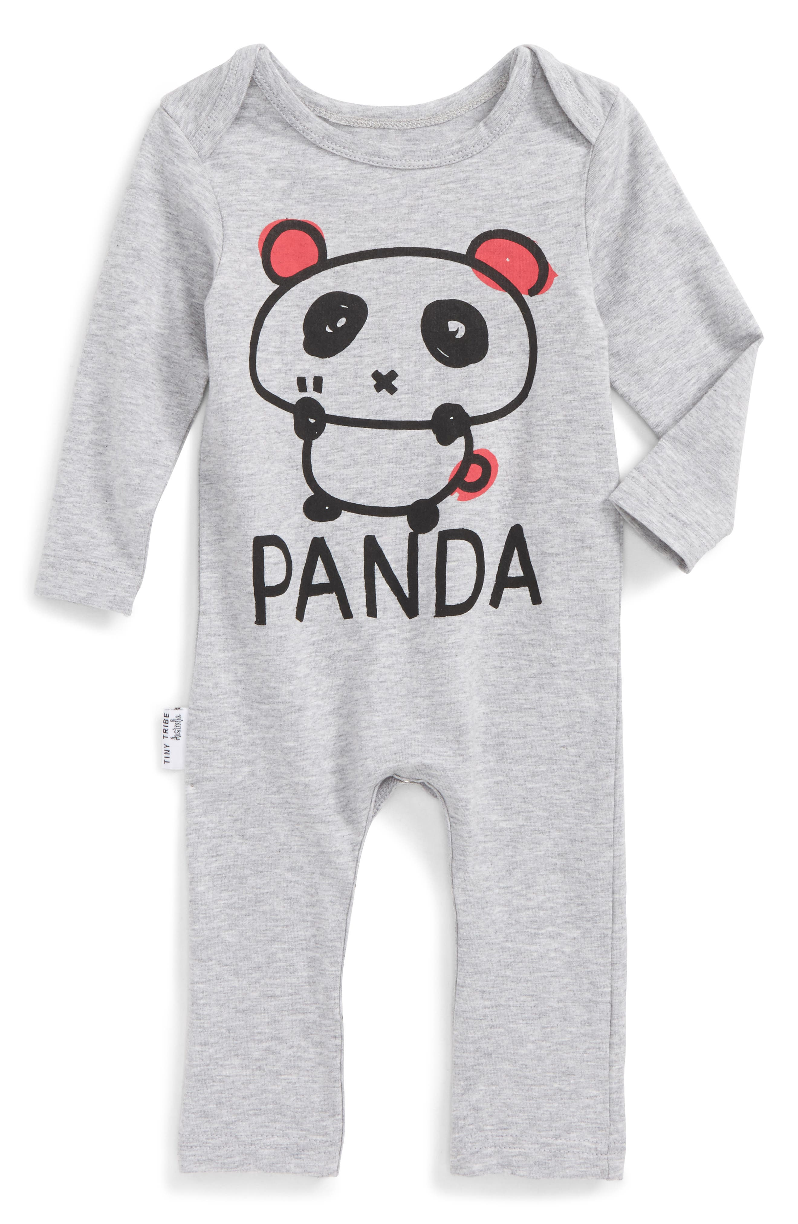 Panda Romper,                             Main thumbnail 1, color,                             035