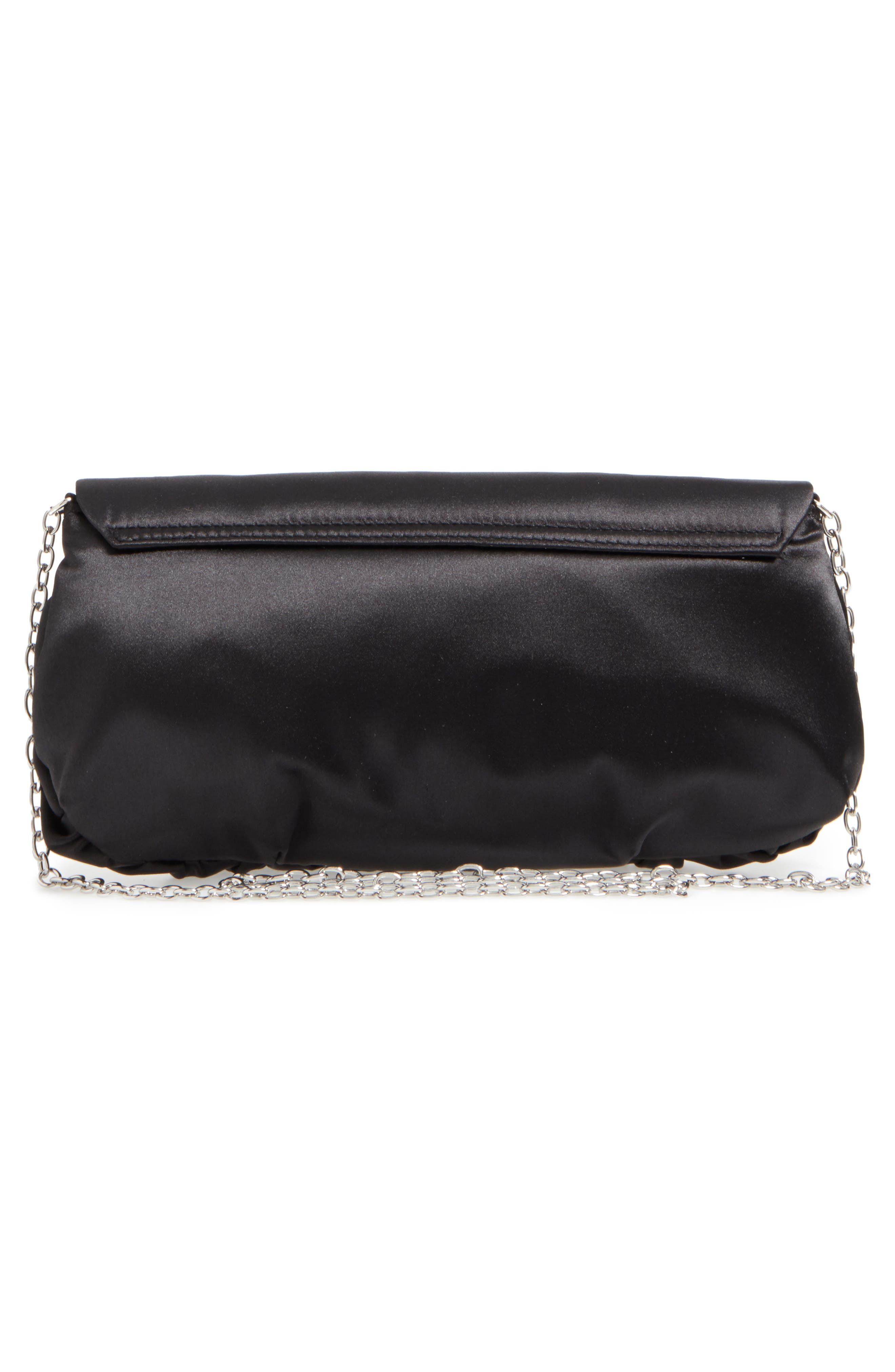 Caracas Crystal Embellished Clutch,                             Alternate thumbnail 3, color,                             001