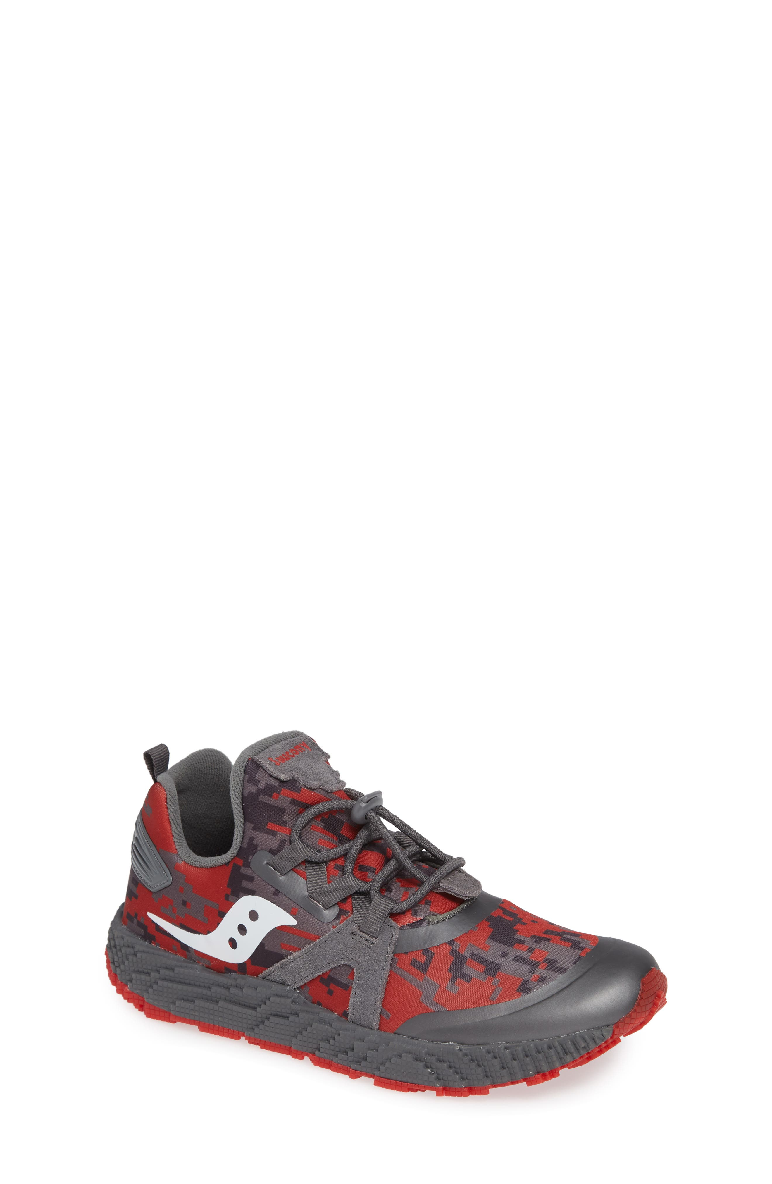 Voxel 9000 Sneaker,                         Main,                         color, GREY LEATHER/ MESH 2