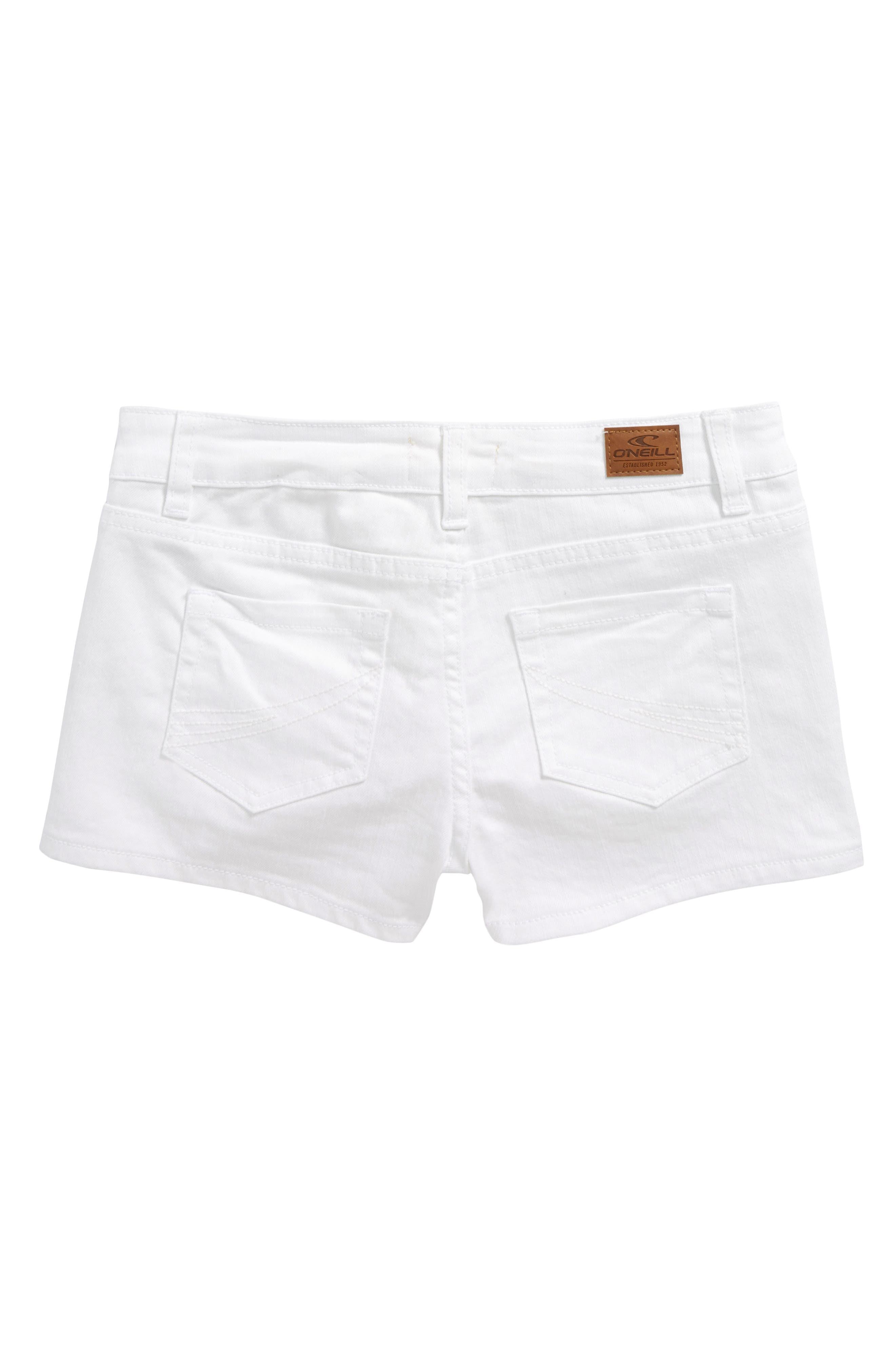 Waidley Denim Shorts,                             Alternate thumbnail 4, color,                             100