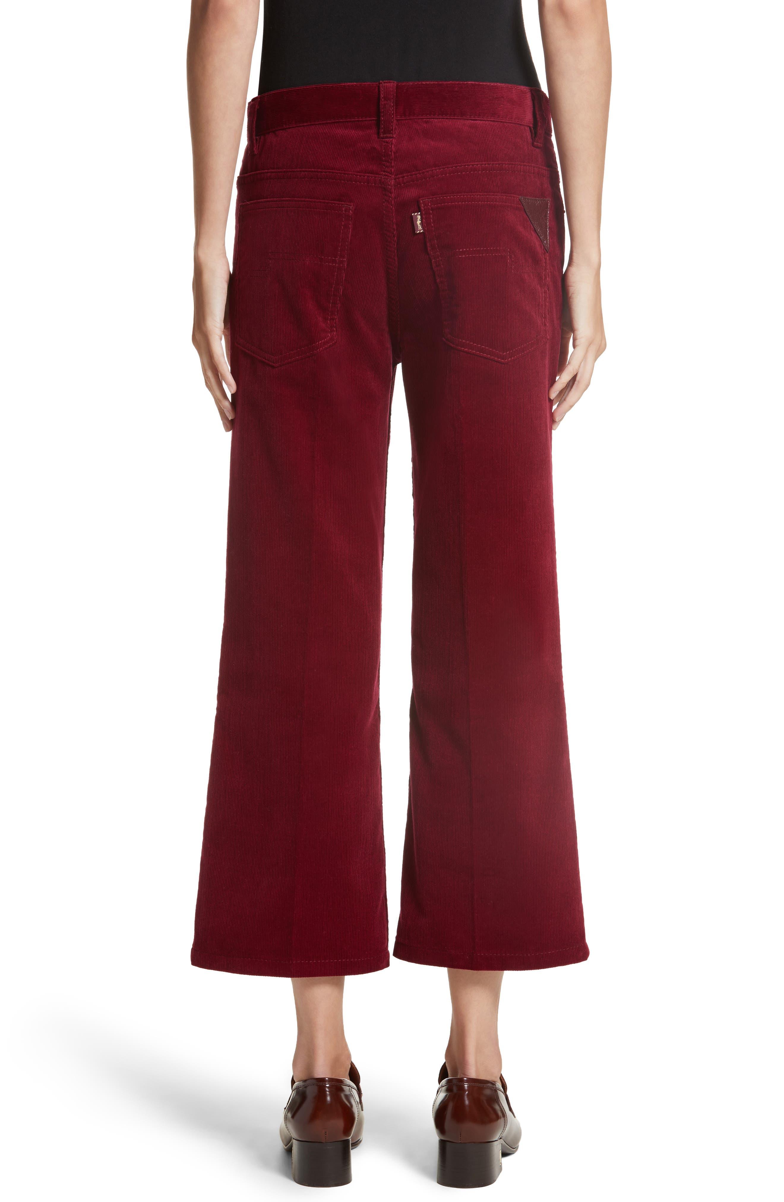 Crop Flare Corduroy Pants,                             Alternate thumbnail 2, color,                             930