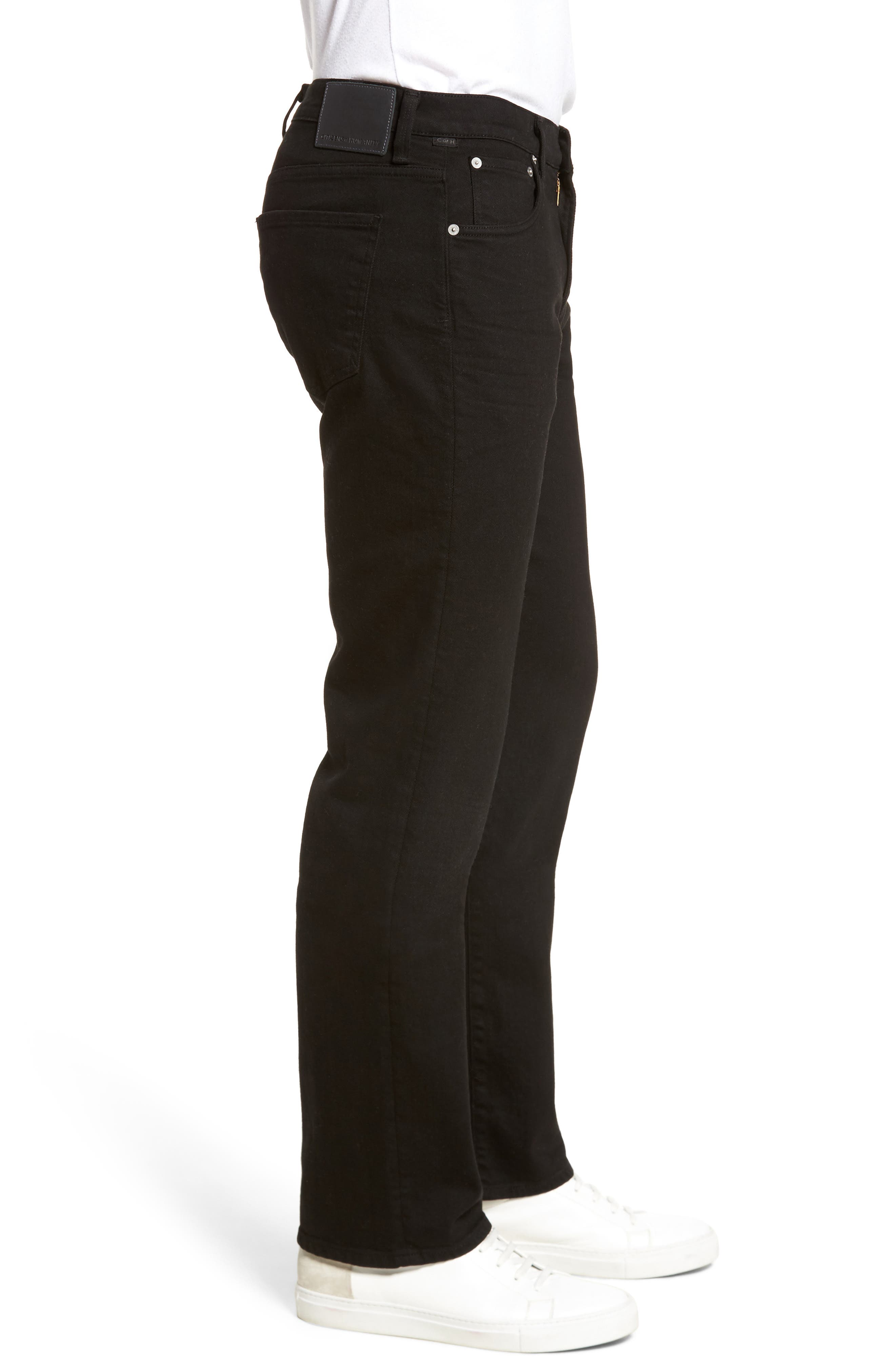 Sid Straight Fit Jeans,                             Alternate thumbnail 3, color,                             004