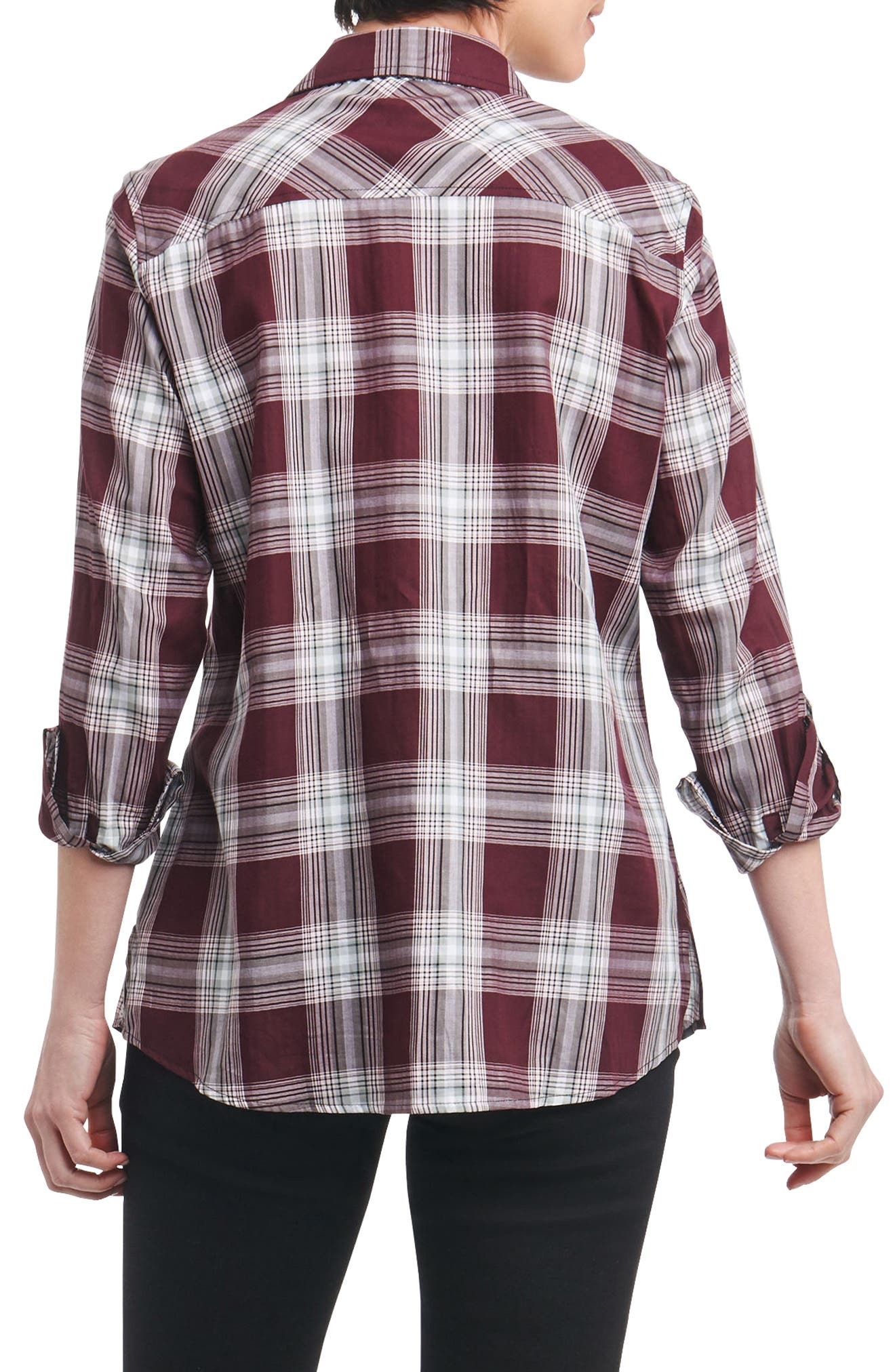 Addison Plaid Shirt,                             Alternate thumbnail 2, color,                             936