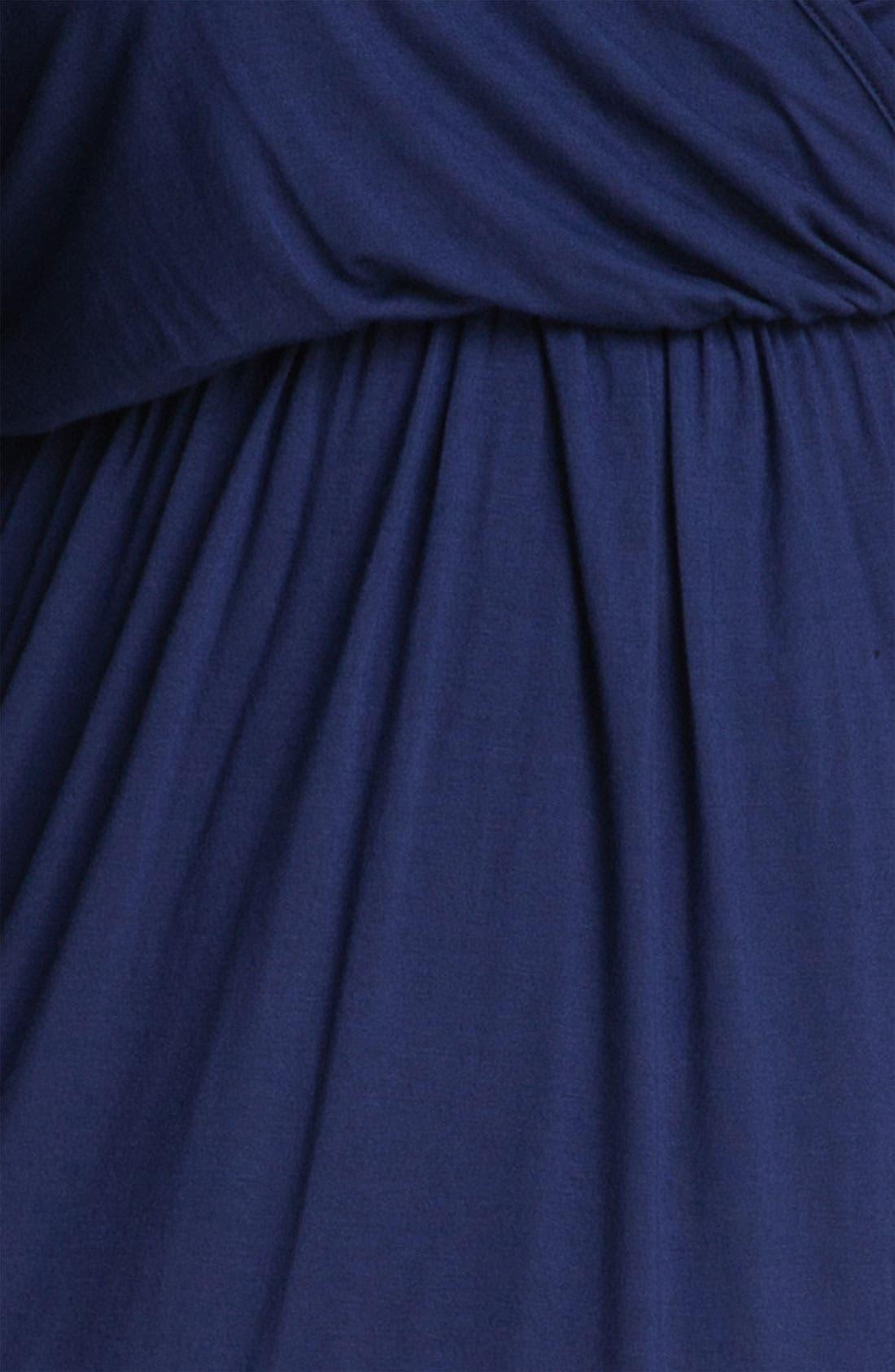 LOVEAPPELLA,                             High Low Faux Wrap Dress,                             Alternate thumbnail 2, color,                             410