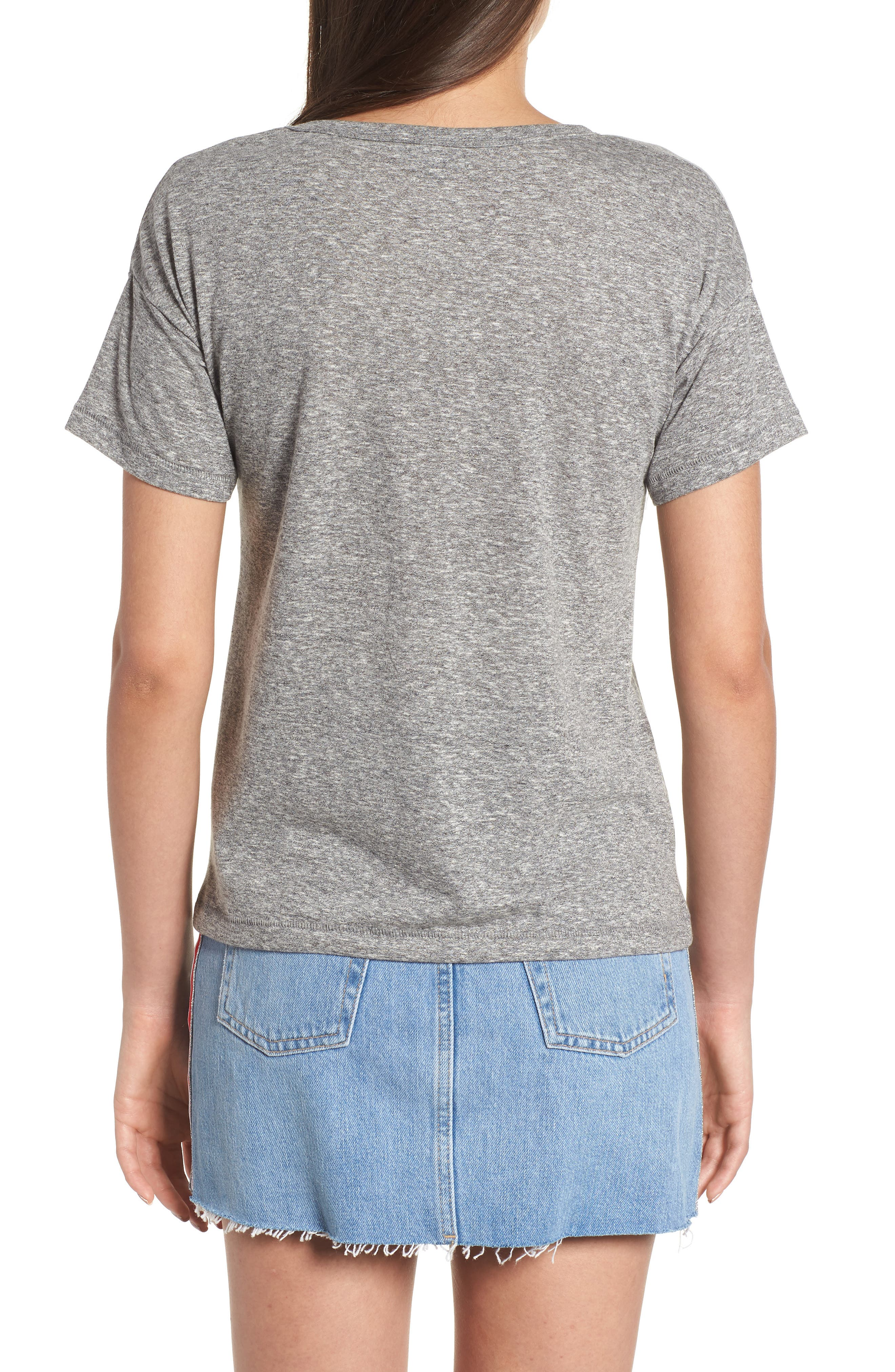 Short Sleeve Marl T-Shirt,                             Alternate thumbnail 2, color,                             020