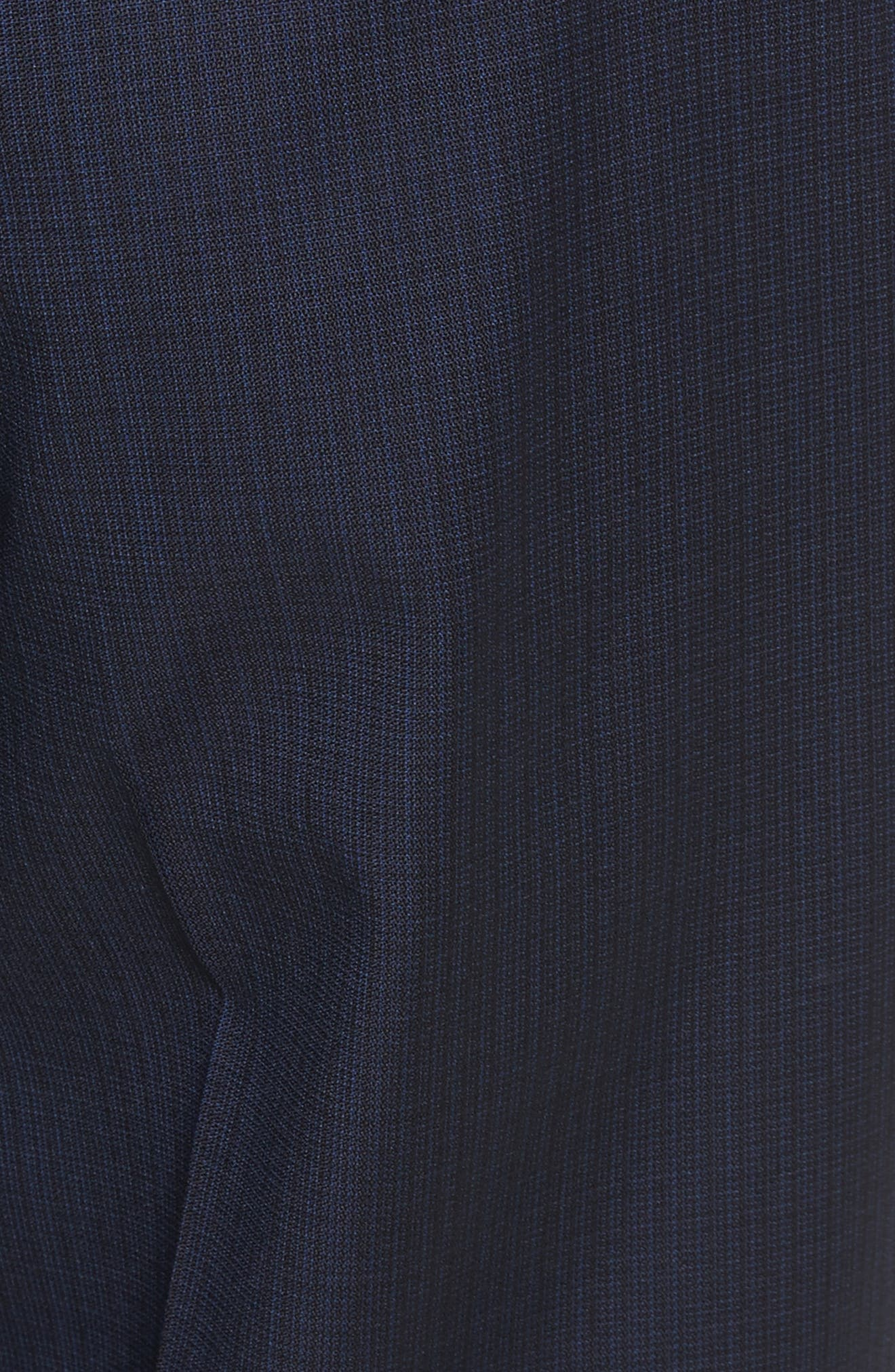 Flat Front Check Wool Trousers,                             Alternate thumbnail 2, color,