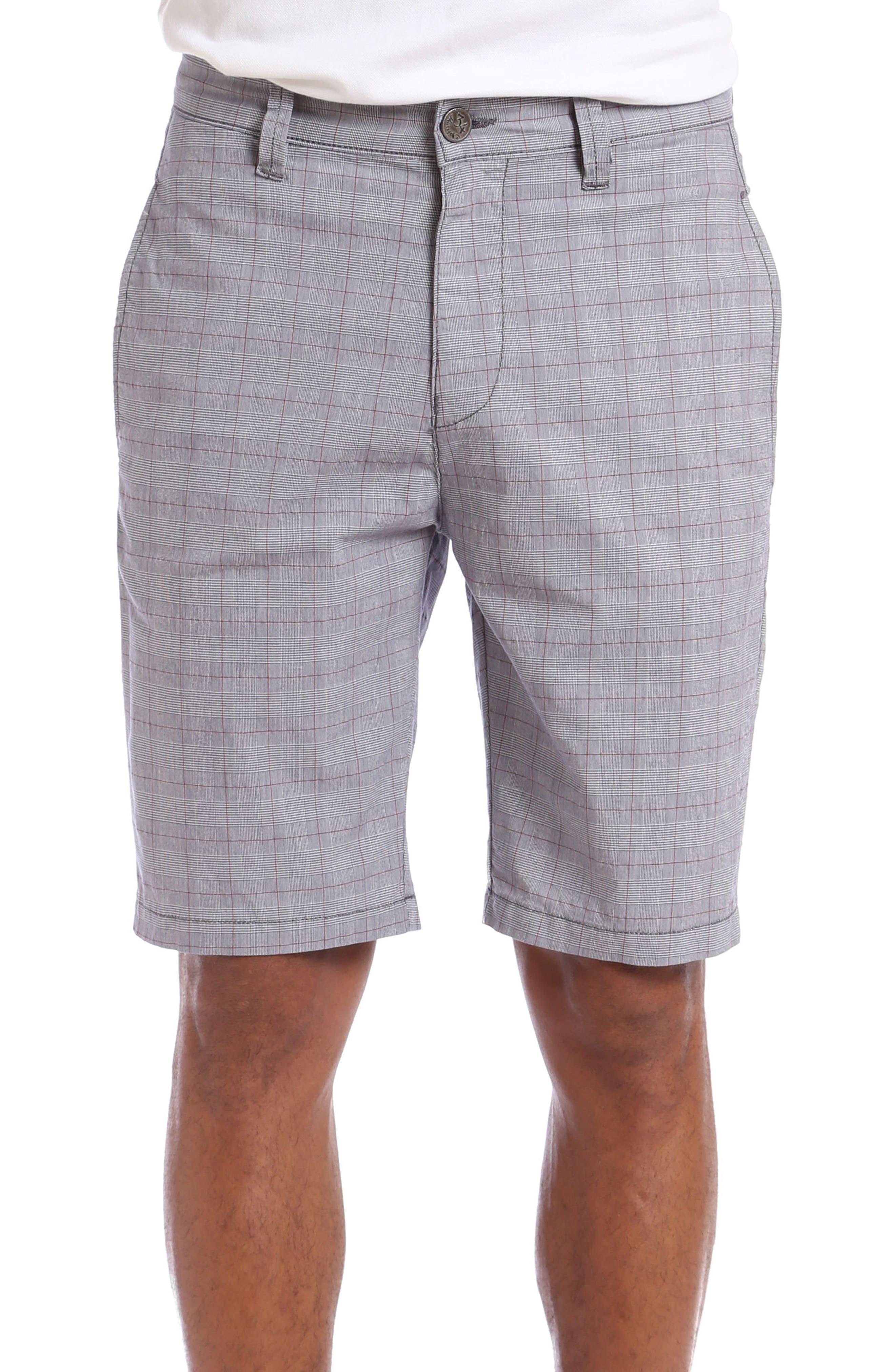 Nevada Twill Shorts,                             Main thumbnail 1, color,                             GREY PLAID