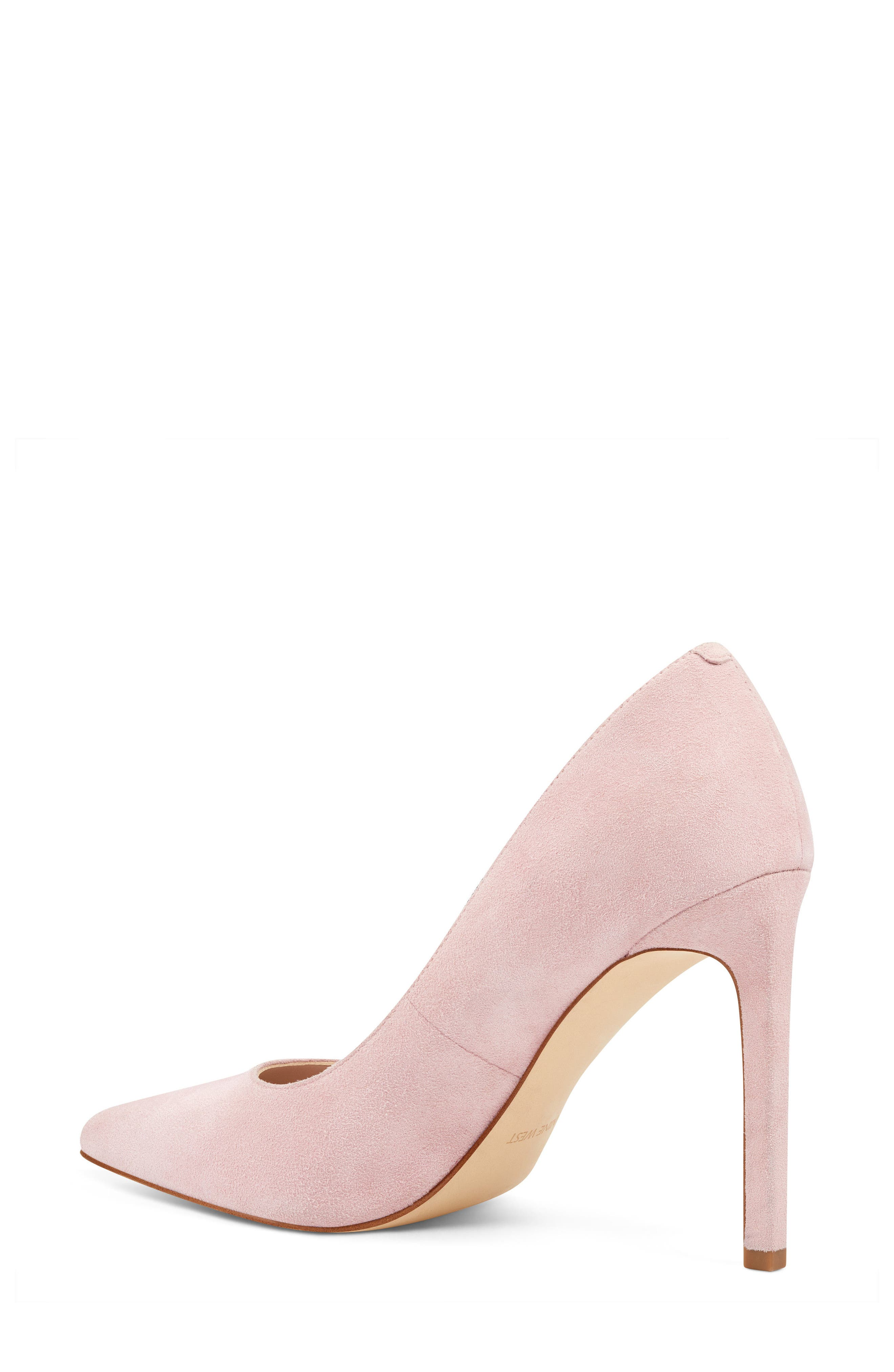 'Tatiana' Pointy Toe Pump,                             Alternate thumbnail 2, color,                             LIGHT PINK SUEDE