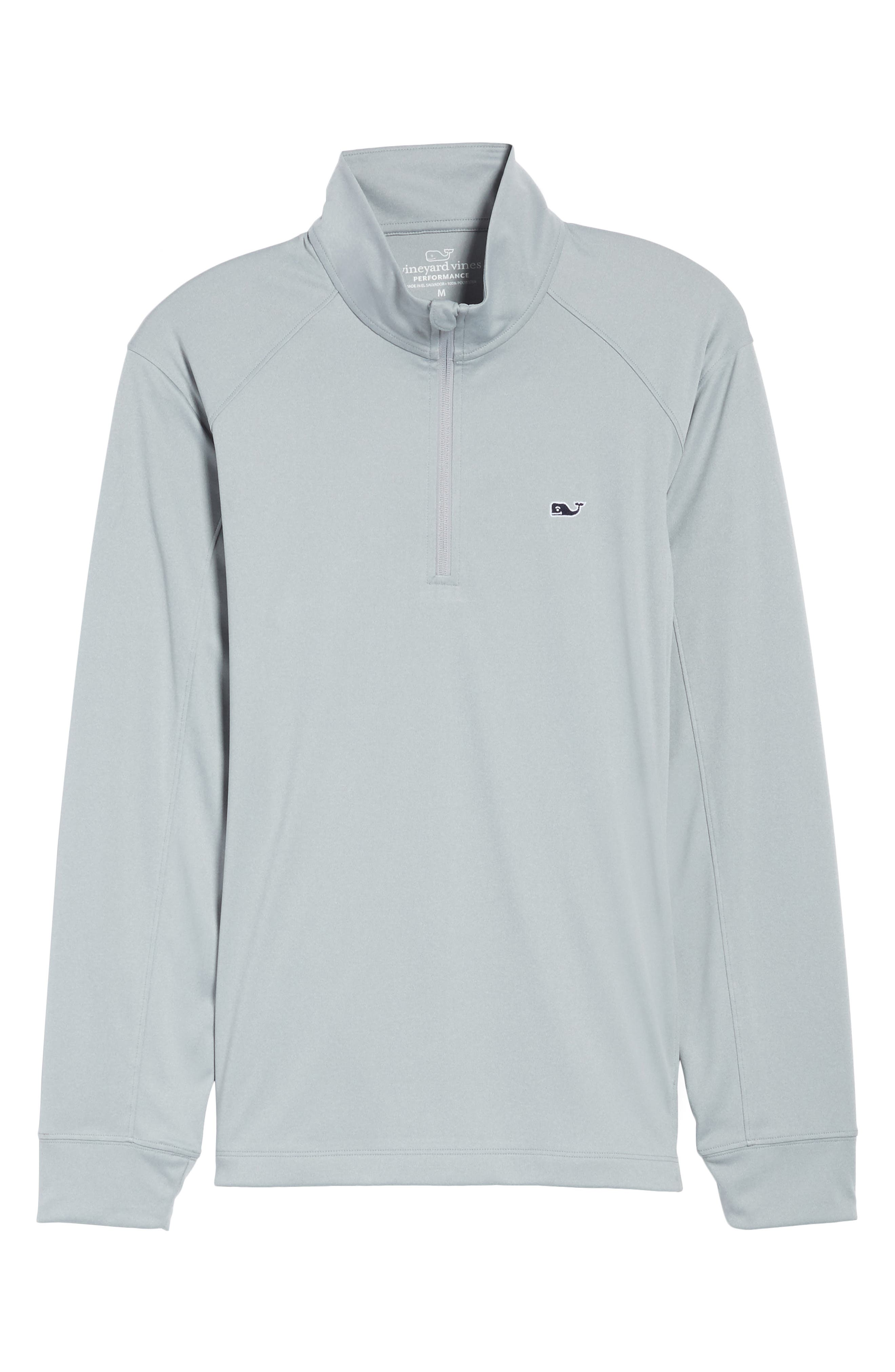Heathered Quarter Zip Pullover,                             Alternate thumbnail 6, color,                             034