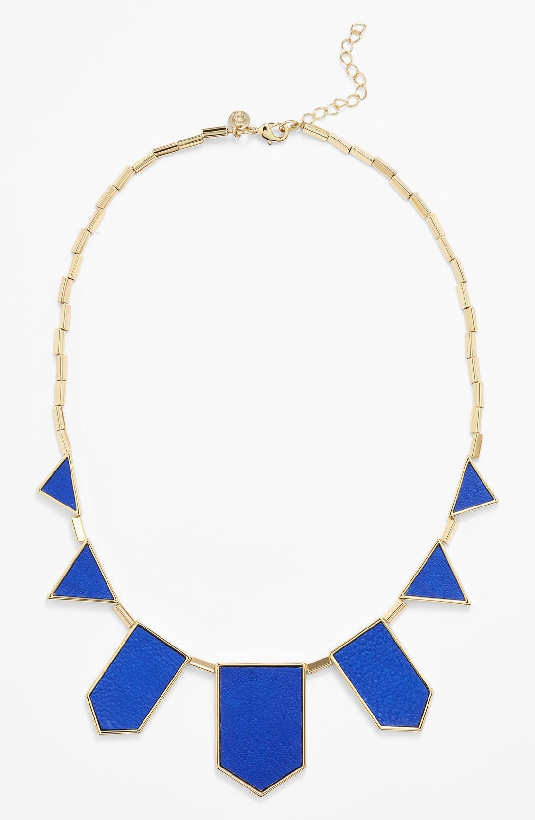 Leather Station Necklace,                             Main thumbnail 9, color,