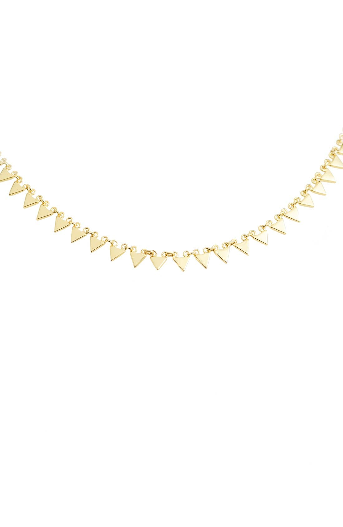 Triangle Collar Necklace,                             Alternate thumbnail 6, color,