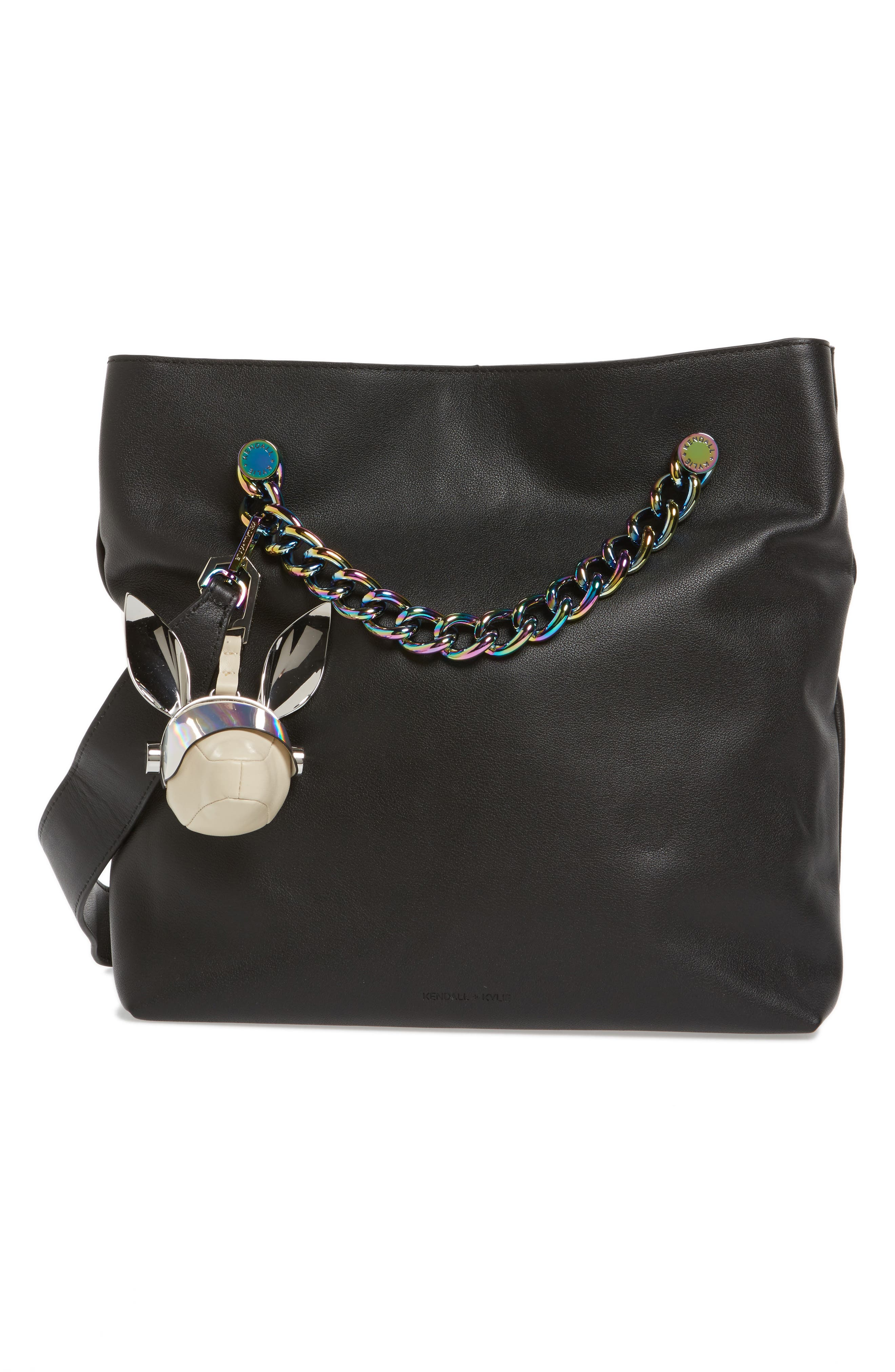 Blu Visor Bag Charm,                             Alternate thumbnail 4, color,