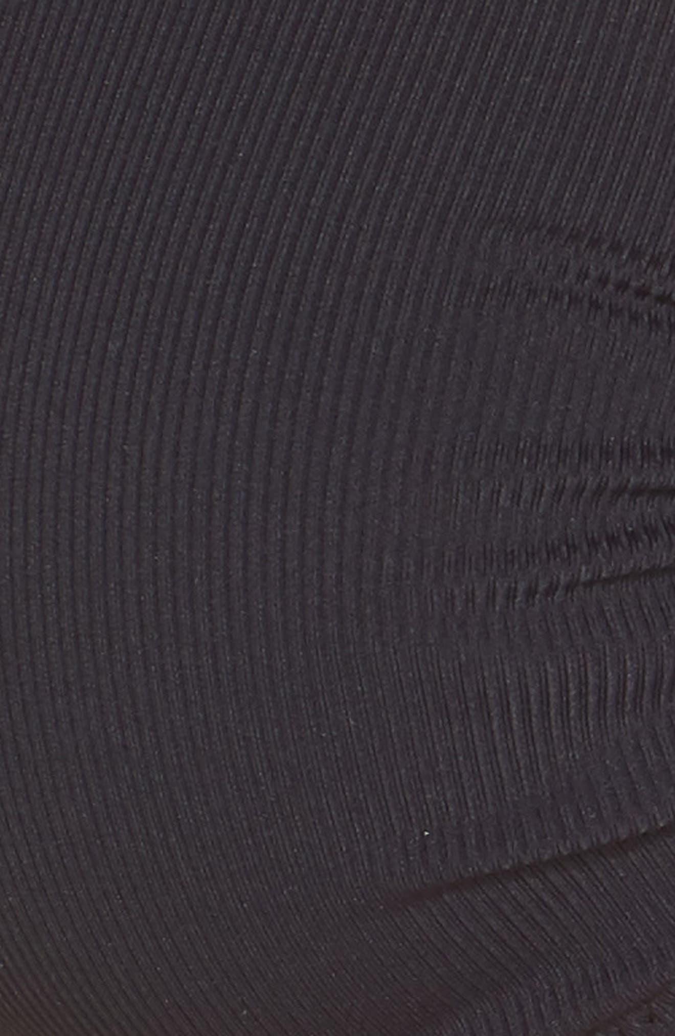 MELISSA ODABASH,                             Brussels Underwire Bikini Top,                             Alternate thumbnail 6, color,                             BLACK RIBBED