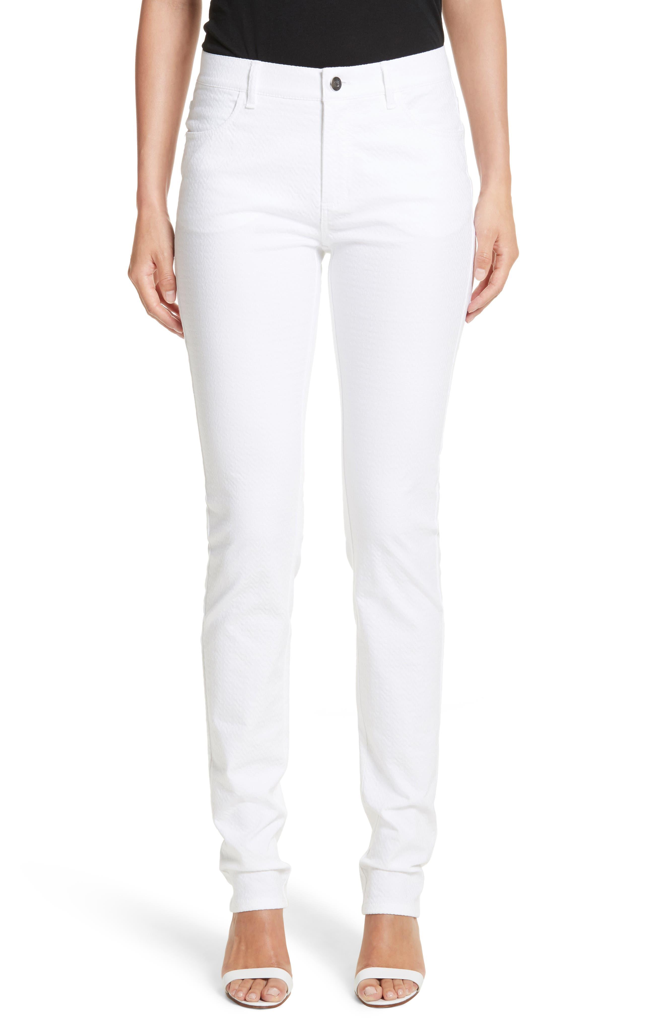 Thompson Straight Leg Jeans,                             Main thumbnail 1, color,                             WHITE