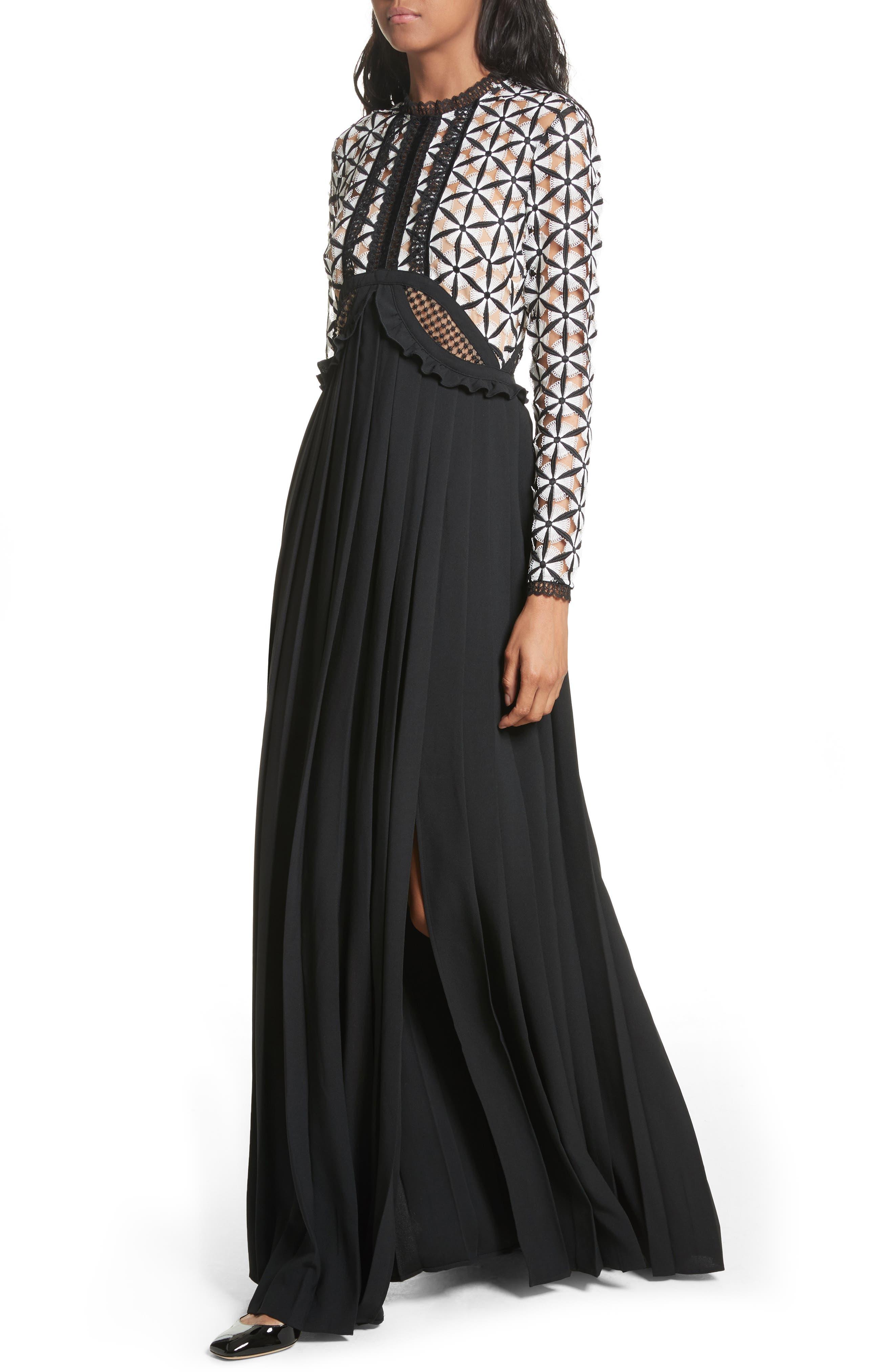 Guipure Lace Maxi Dress,                             Alternate thumbnail 4, color,