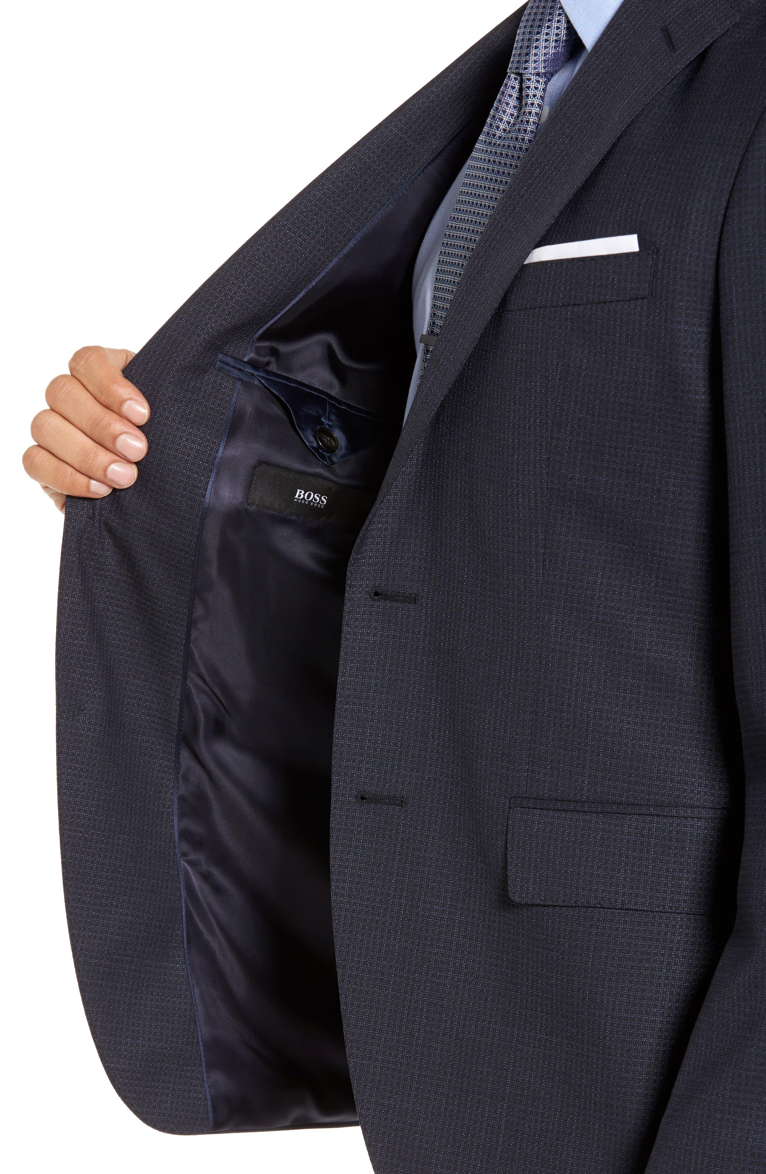 Johnstons/Lenon Classic Fit Check Wool Suit,                             Alternate thumbnail 4, color,