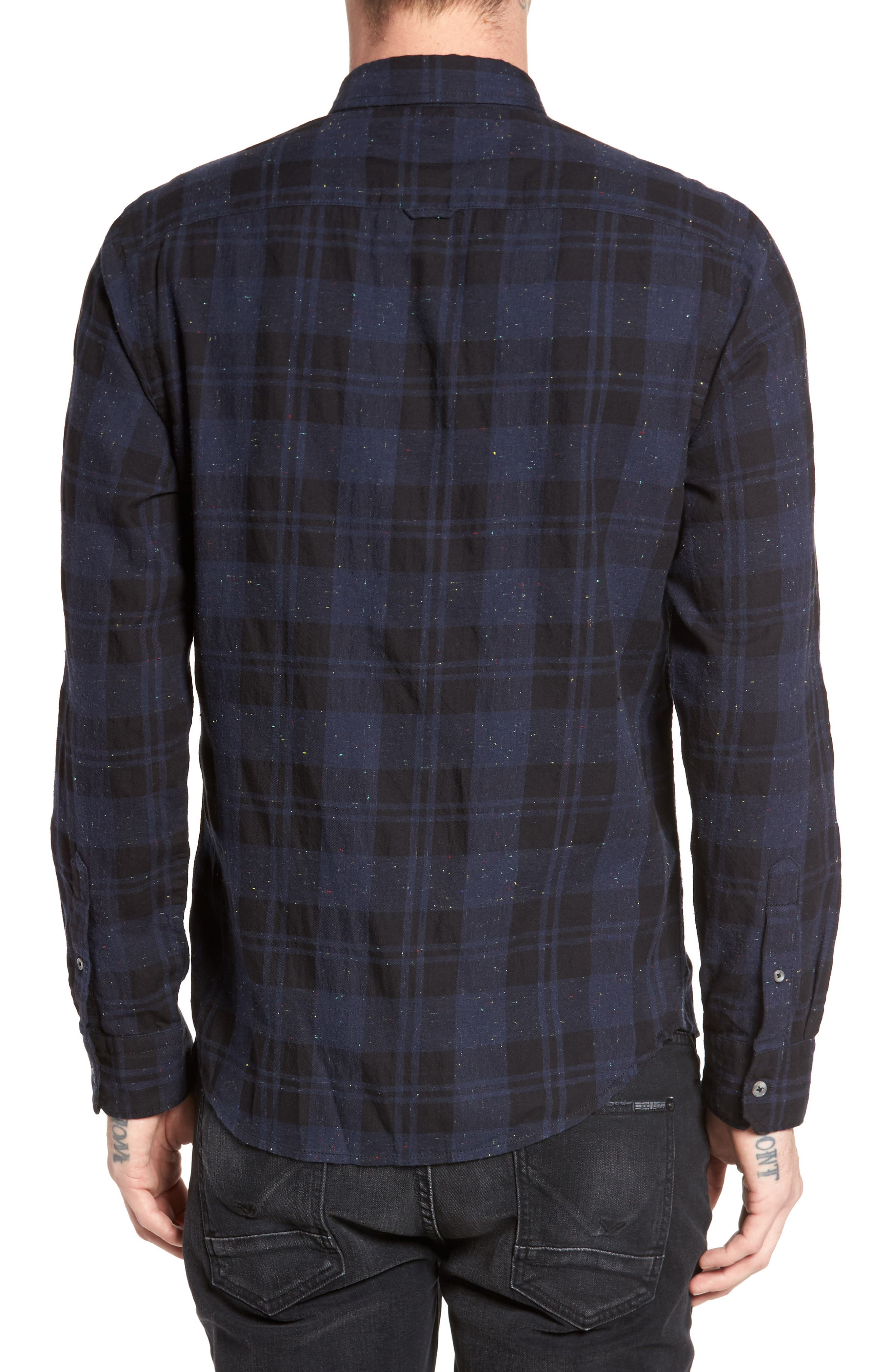 Long Sleeve Plaid Nep Shirt,                             Alternate thumbnail 2, color,                             410