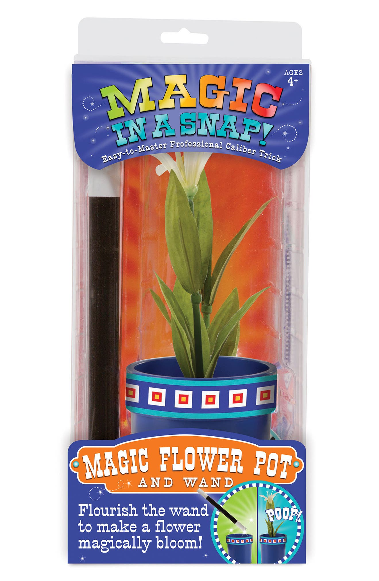 Magic in a Snap Magic Flower Pot & Wand Toy, Main, color, 001