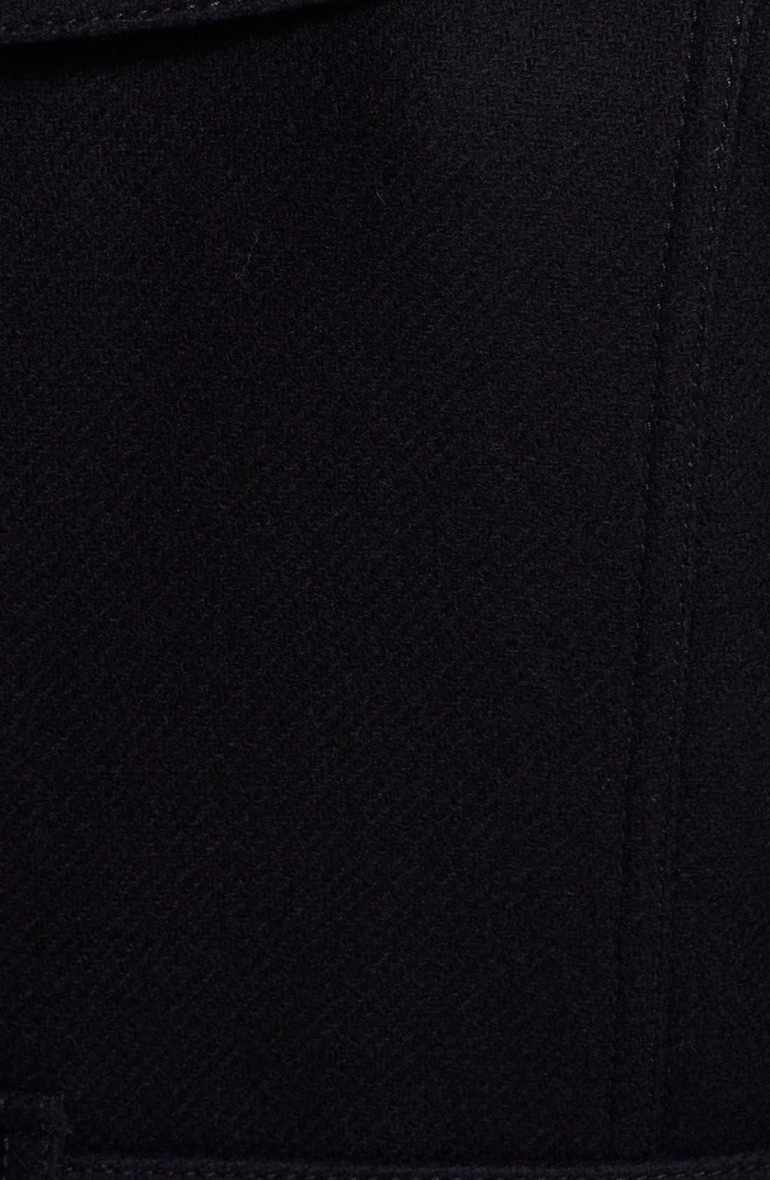 'Rushfield' Wool Blend Single Breasted Coat,                             Alternate thumbnail 4, color,                             001
