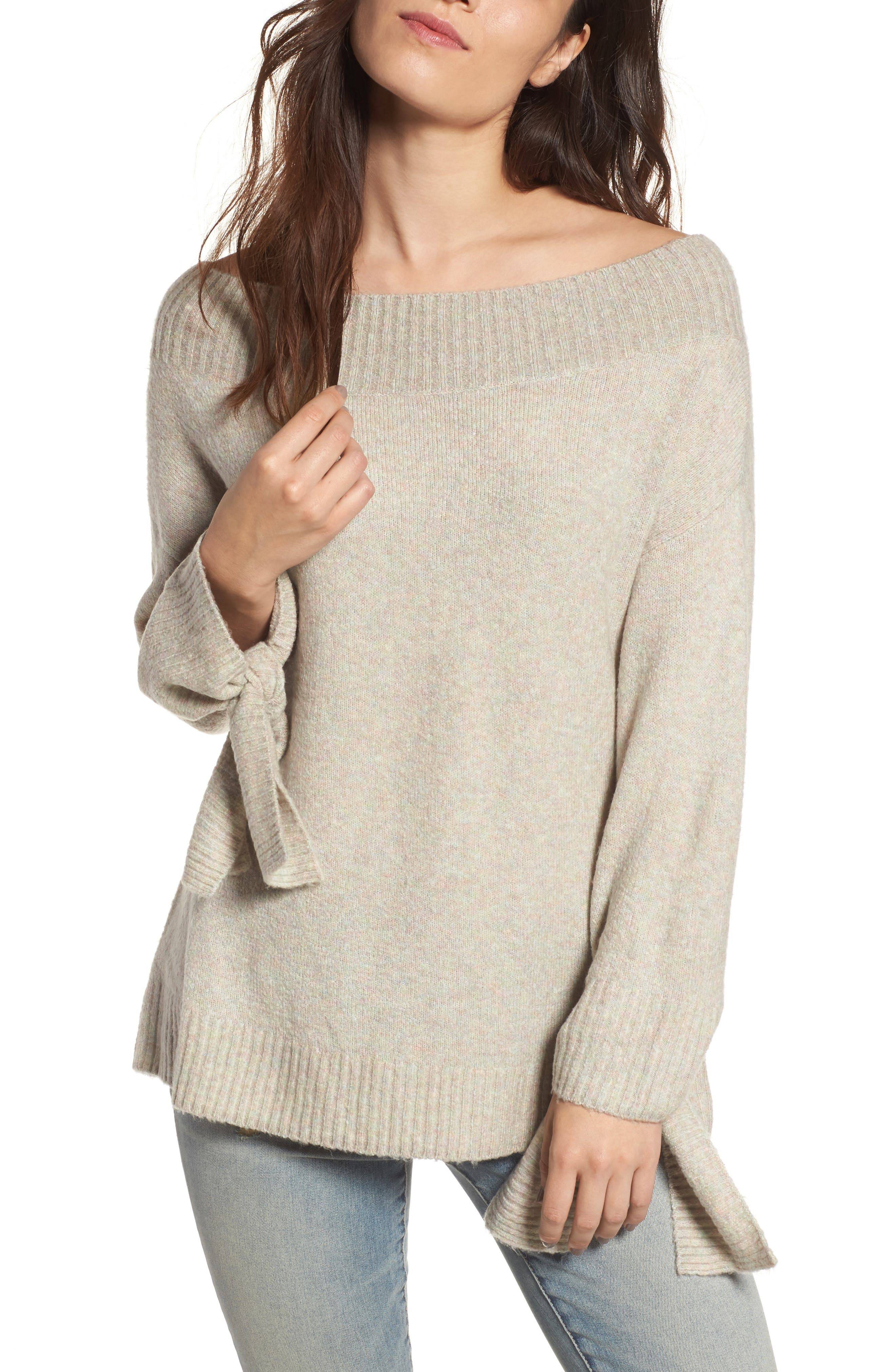 Off the Shoulder Sweater,                             Main thumbnail 3, color,