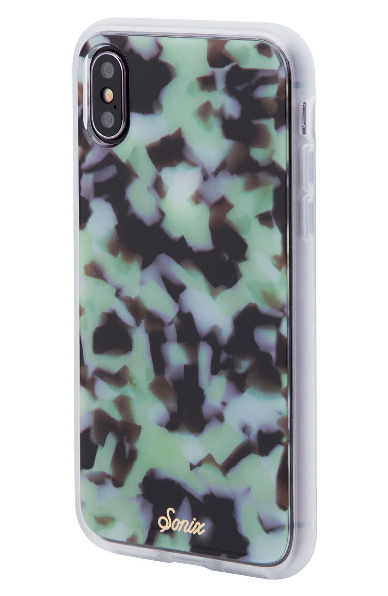 Sonic Terrazzo Mint iPhone X & Xs Case,                             Alternate thumbnail 2, color,                             300