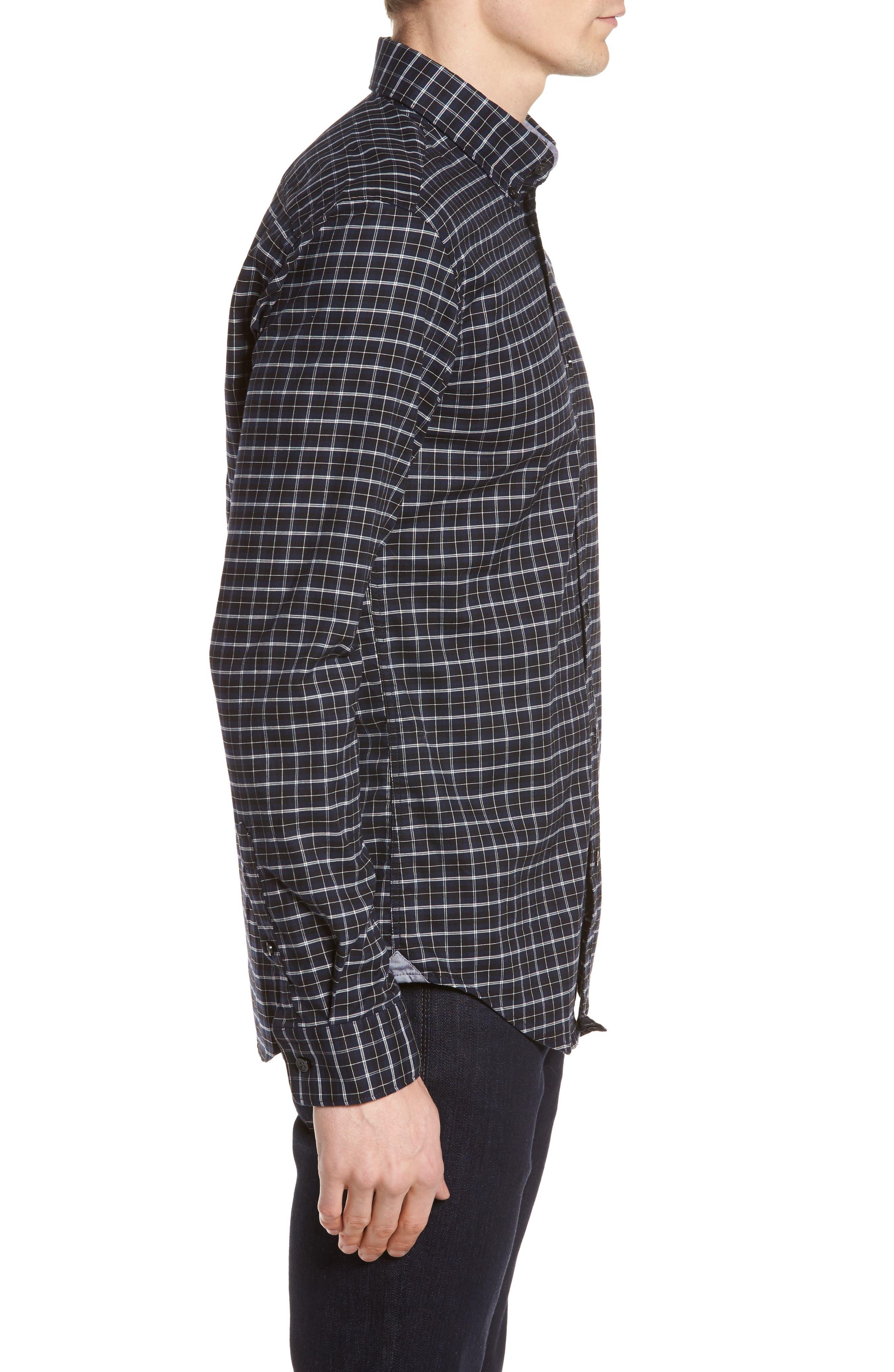 Rod Slim Fit Oxford Check Sport Shirt,                             Alternate thumbnail 3, color,                             410