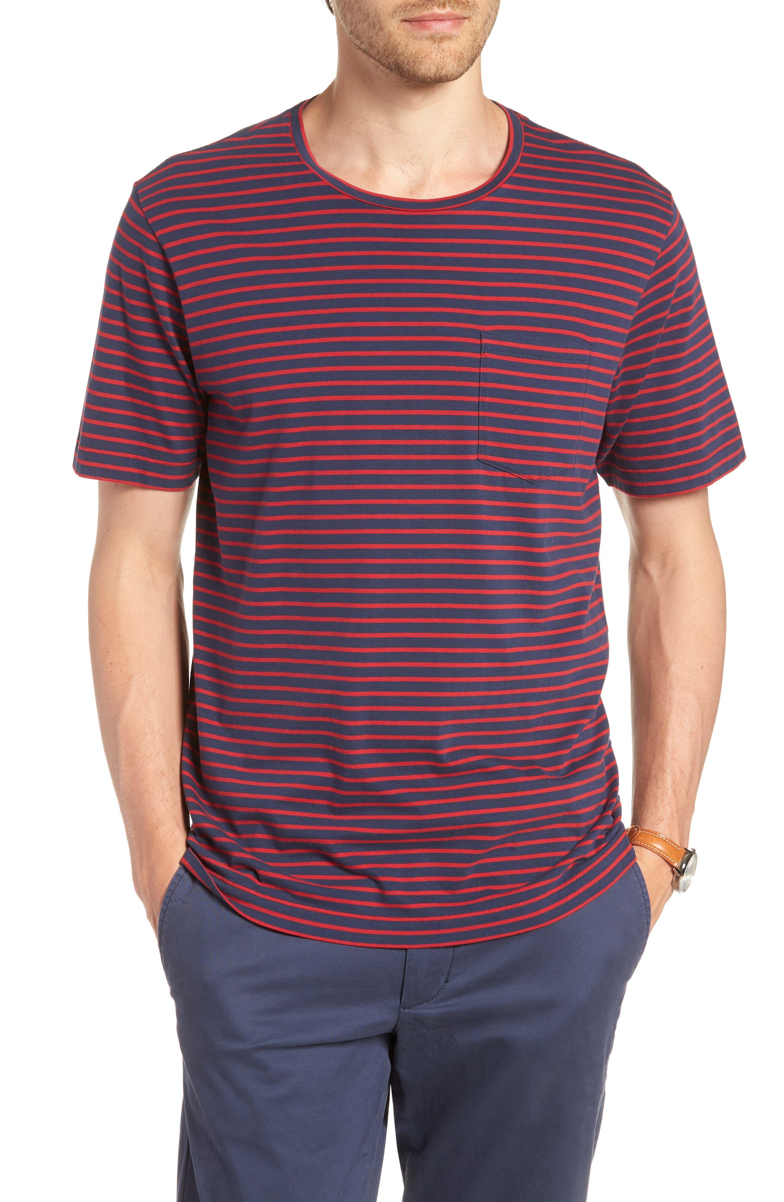 Stripe Brushed Pima Cotton T-Shirt,                             Main thumbnail 3, color,